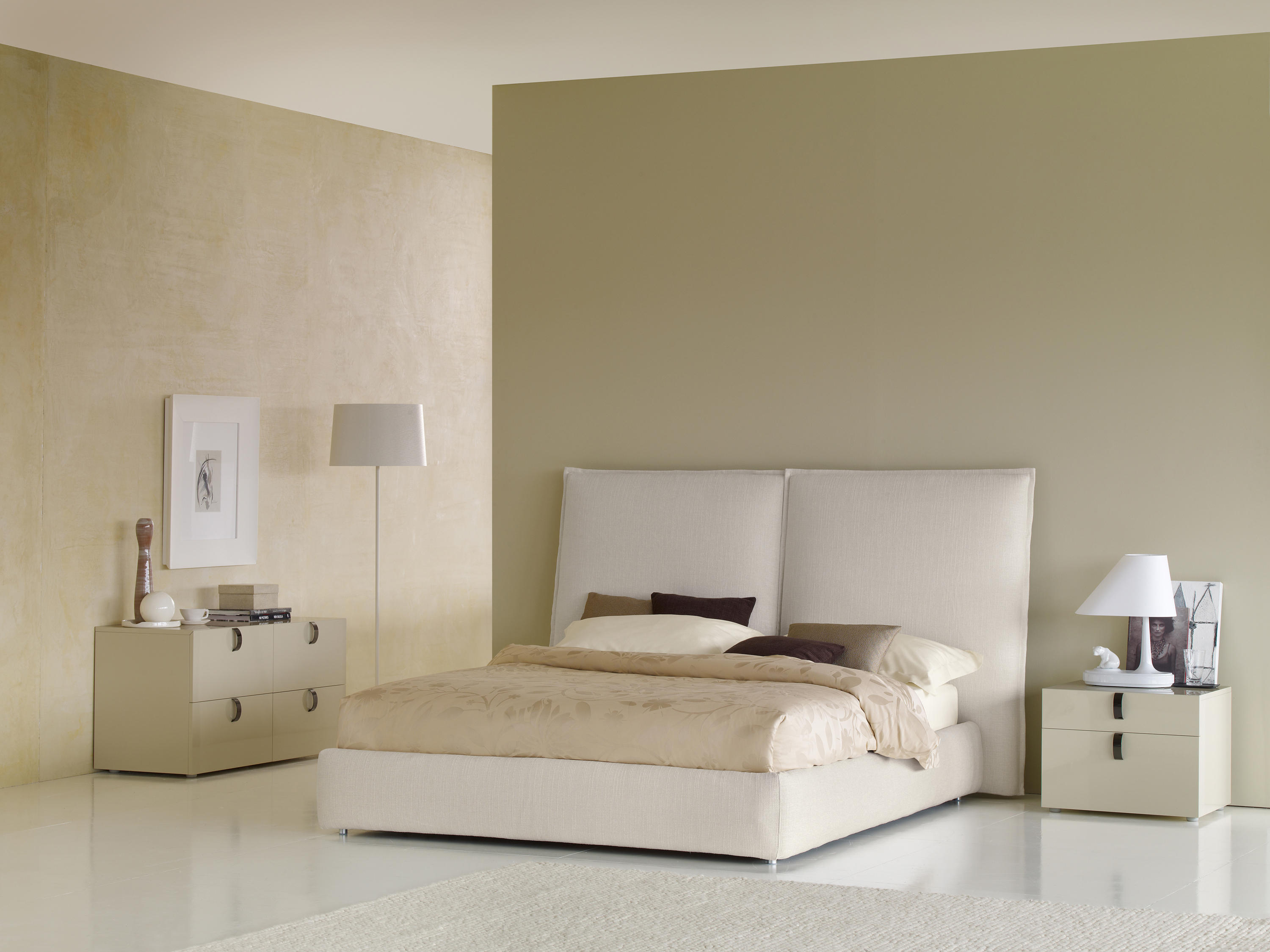 Angle Quilted Headboard Double Beds From Flou Architonic