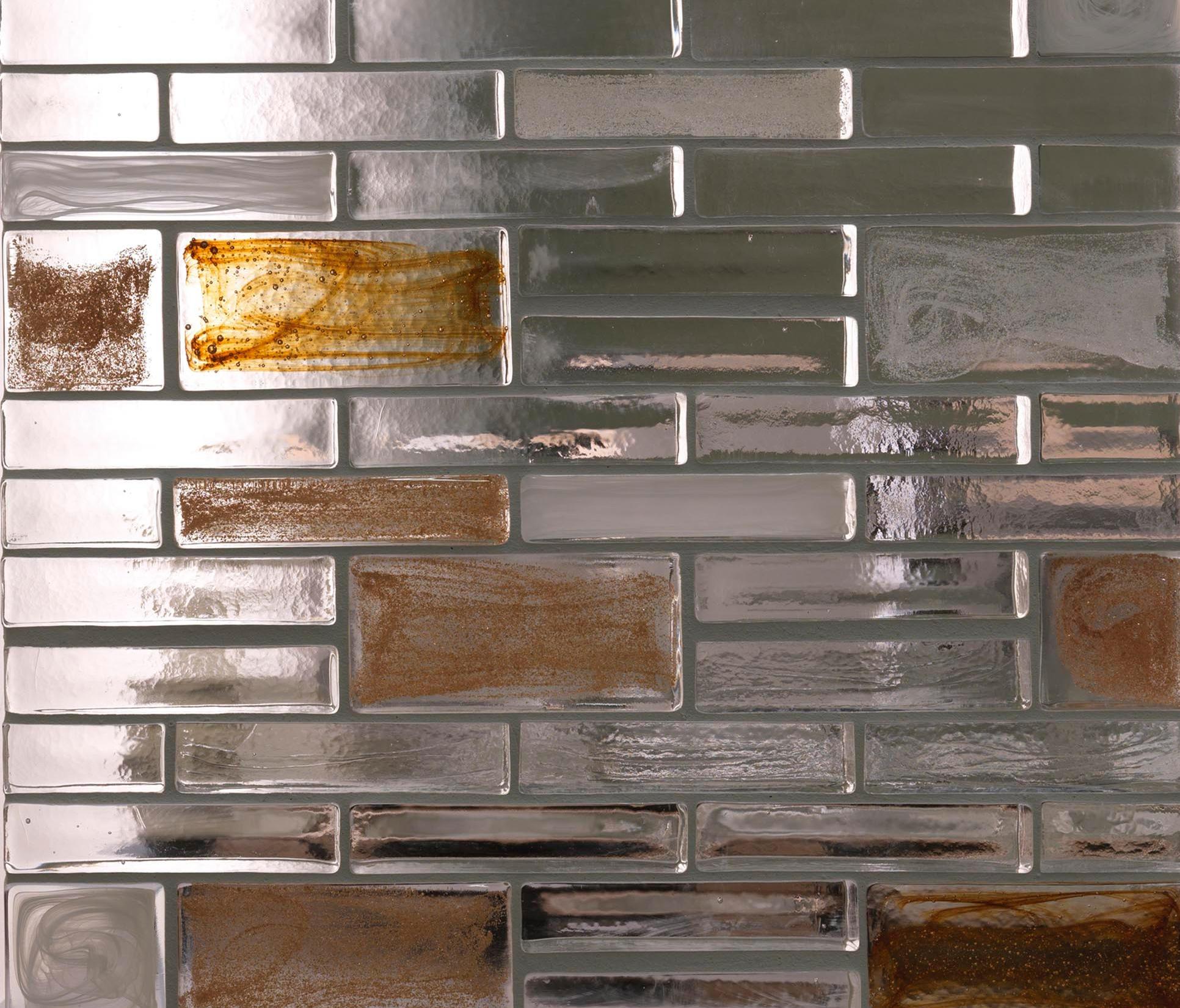 Mattoni in vetro classic bubble vetri decorativi - Mattoni per interni casa ...