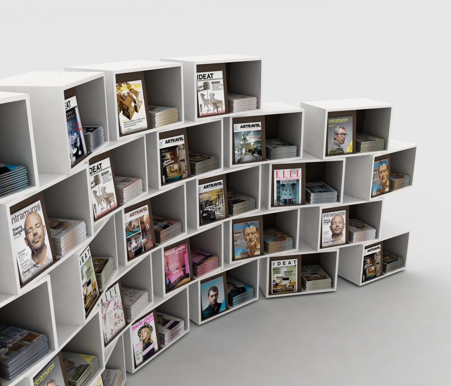 wallbox  magazine displays  holder from idm coupechoux  architonic - wallbox by idm coupechoux · wallbox by idm coupechoux