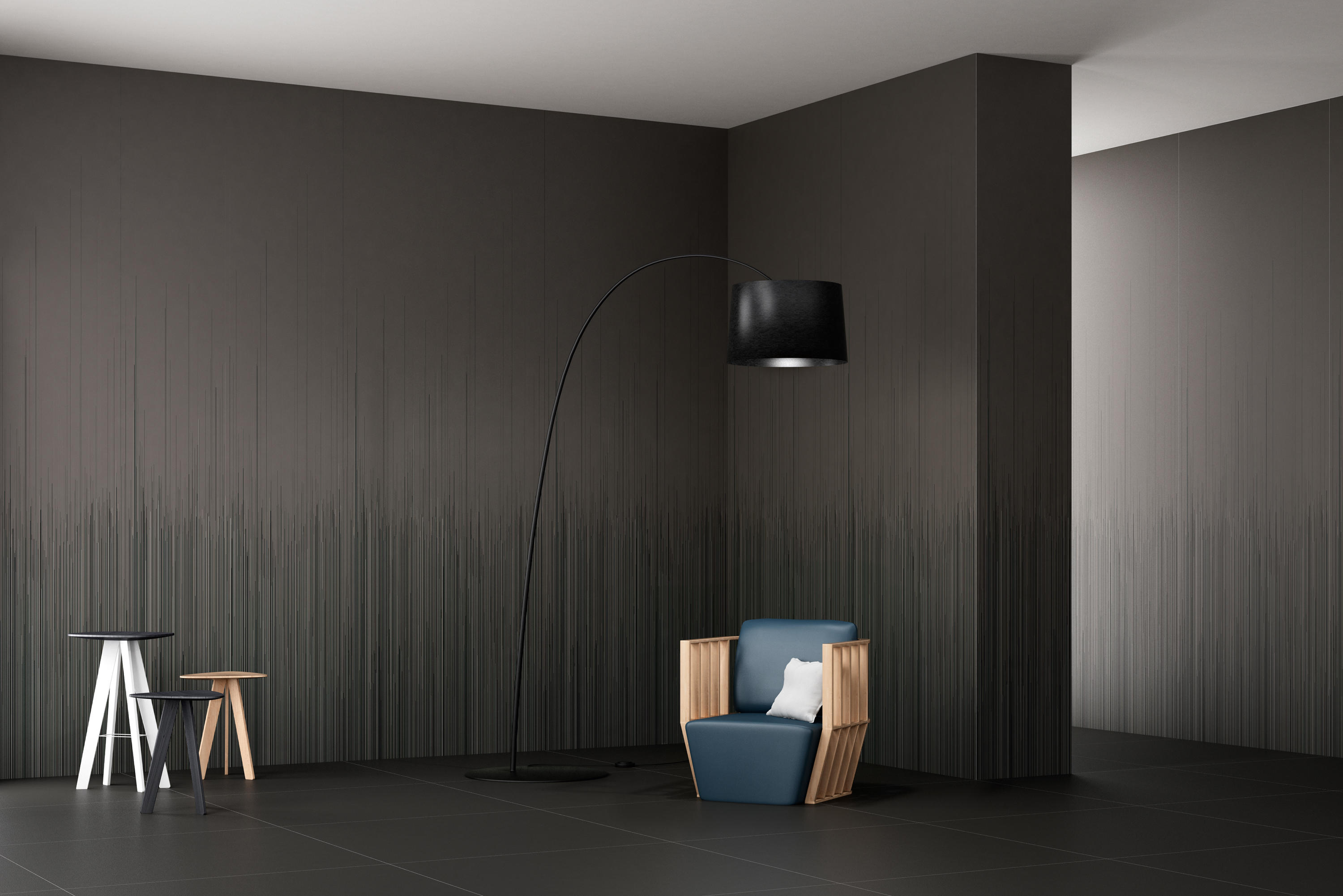 slimtech i wave blue a facade cladding by lea ceramiche. Black Bedroom Furniture Sets. Home Design Ideas