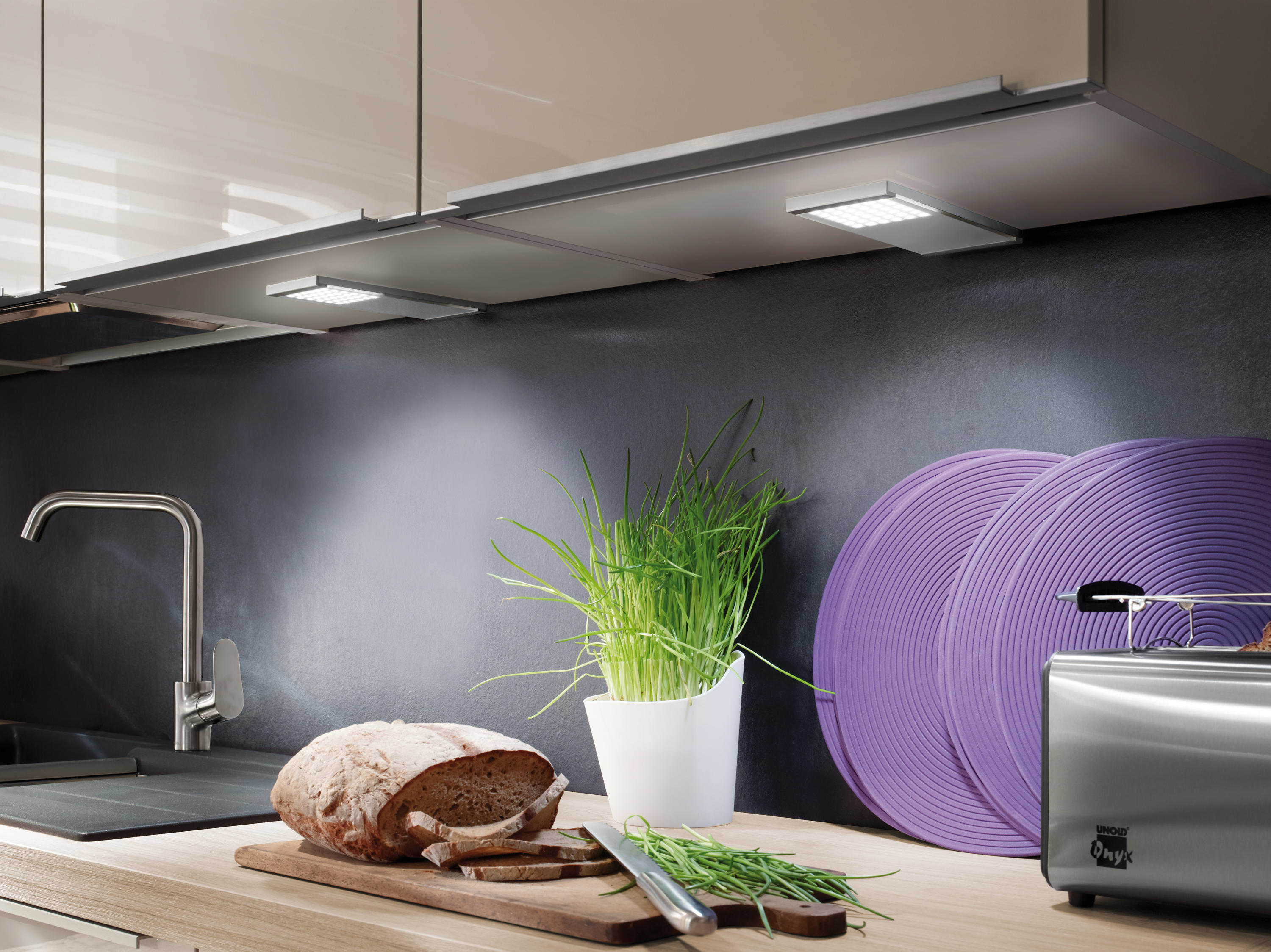 led l pad under cabinet lights from hera architonic. Black Bedroom Furniture Sets. Home Design Ideas