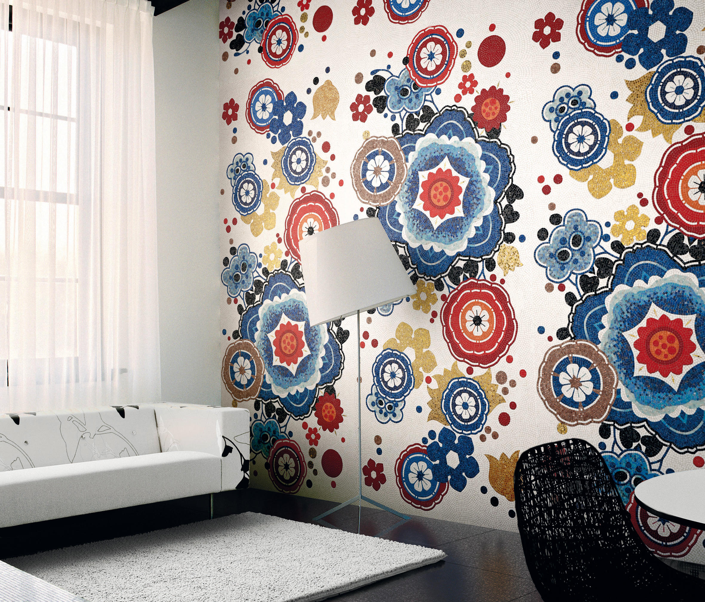 Bloem rosso glass mosaics from bisazza architonic - Bagno mosaico rosso ...