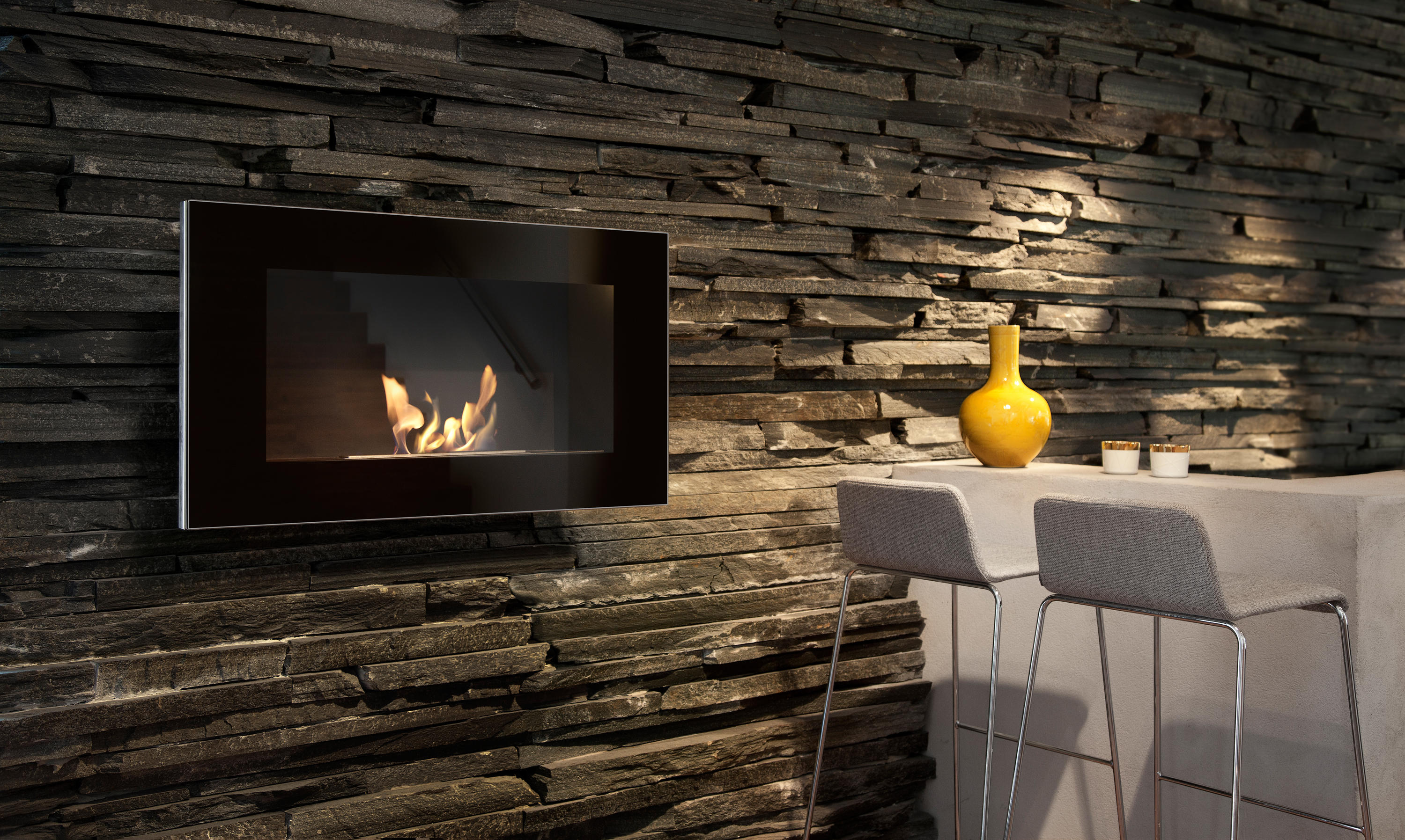 wall mounted electric fireplace from fire sense