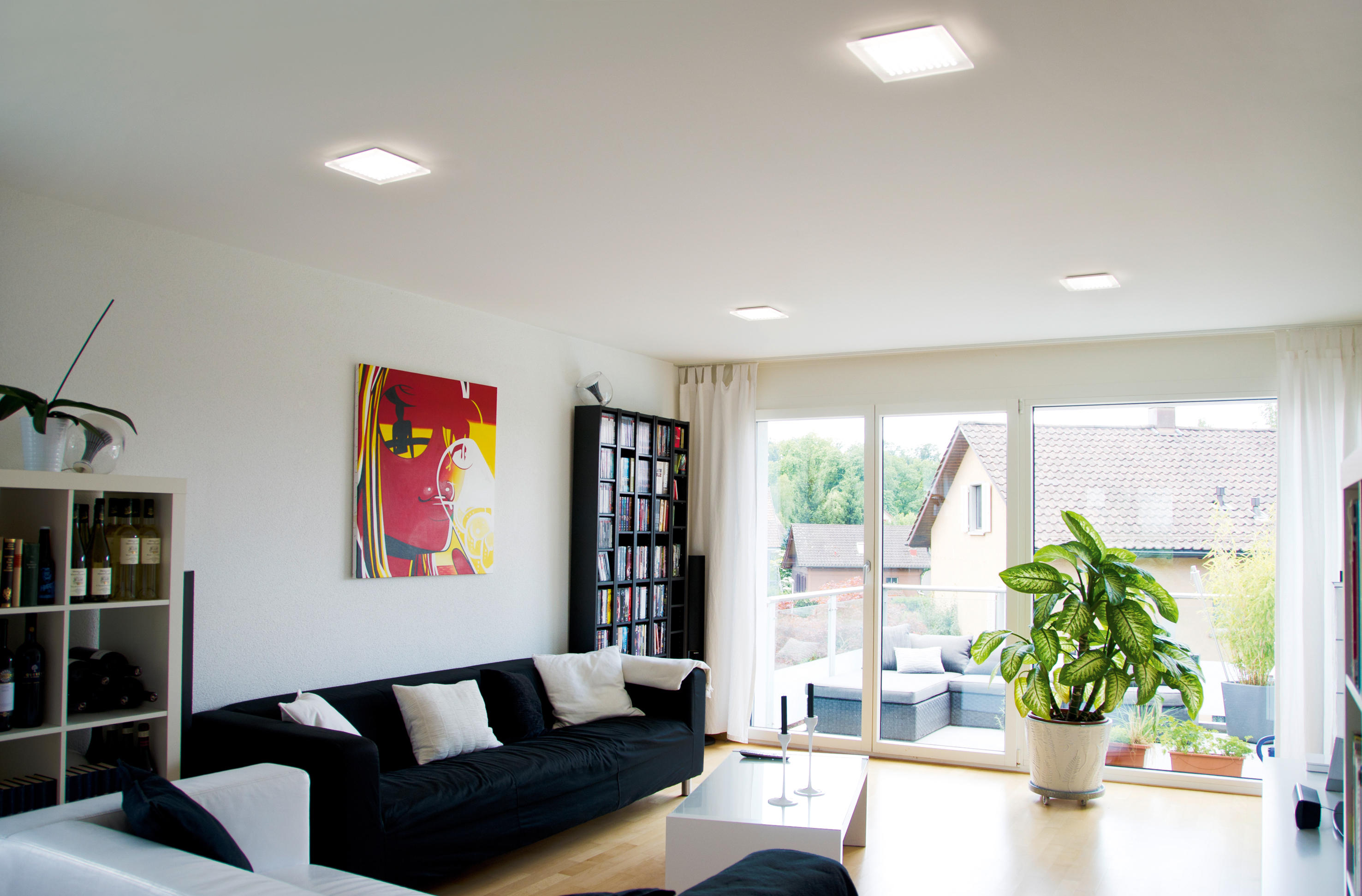 Moderne Wohnwand Mit Led Beleuchtung