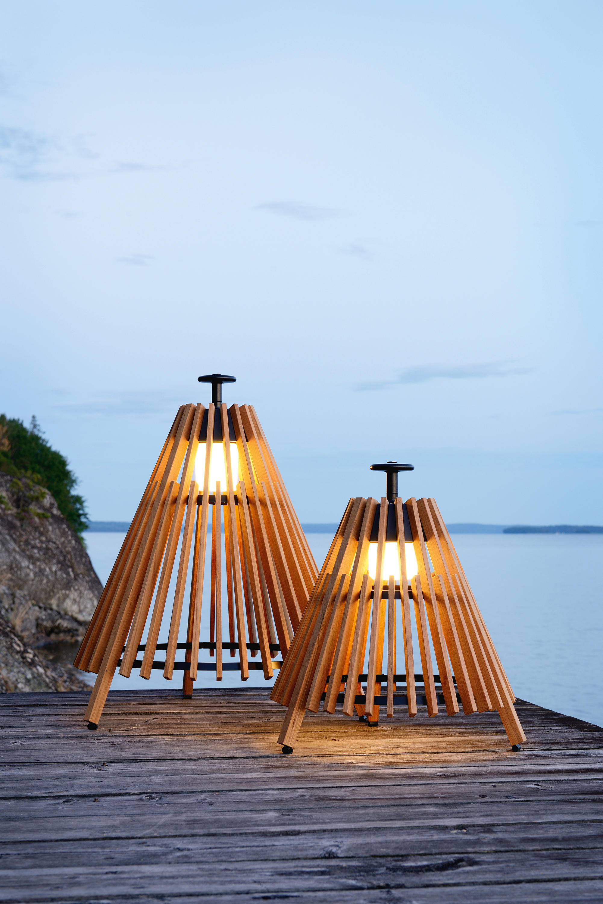 Tipi X Small Outdoor Floor Mounted Lights From