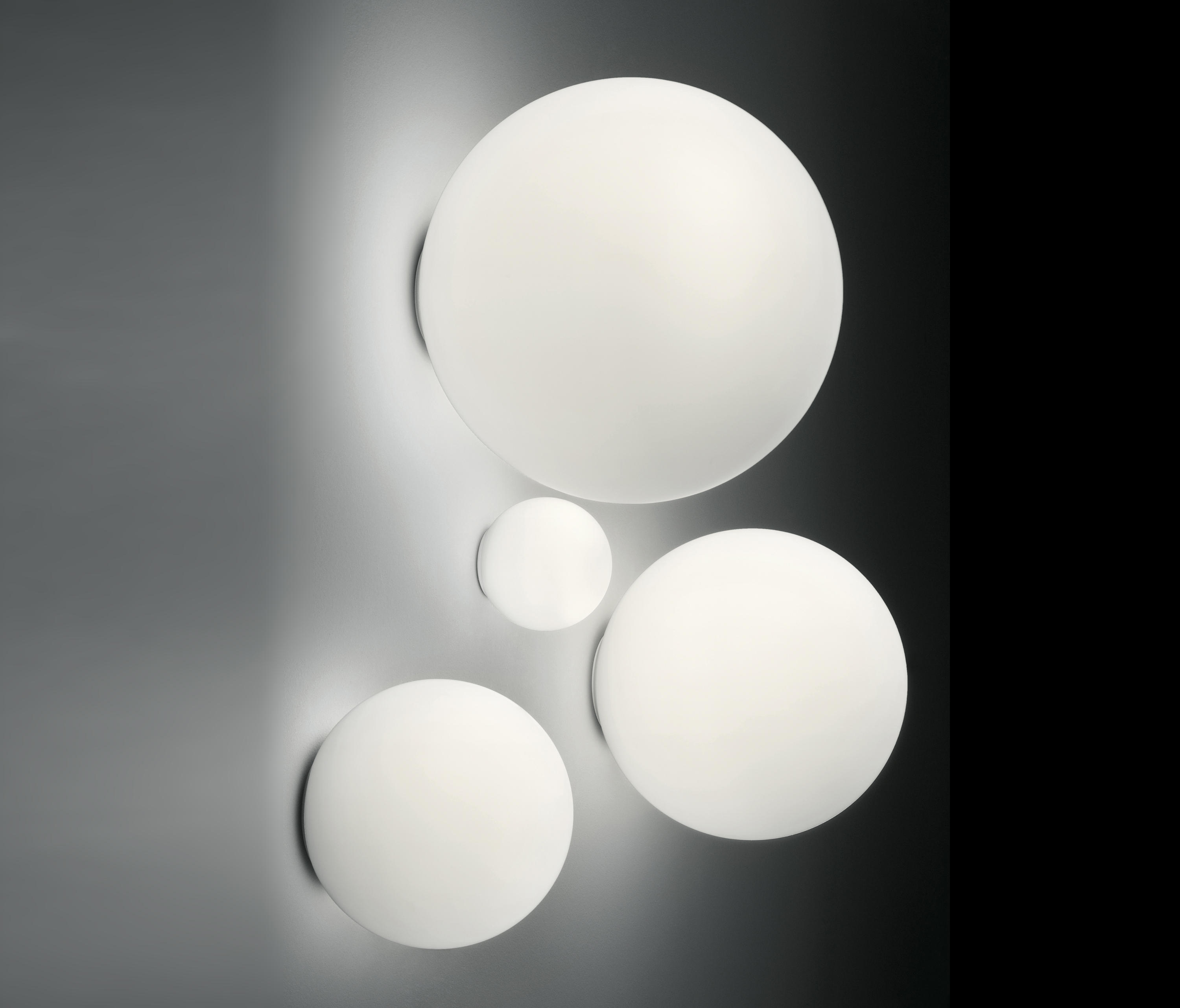 dioscuri outdoor wall lights from artemide architectural architonic