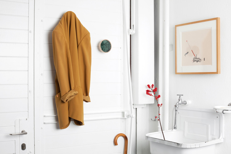 CHARLES MARBLE WHITE | COAT HOOK - Towel rails from Edition Nikolas ...