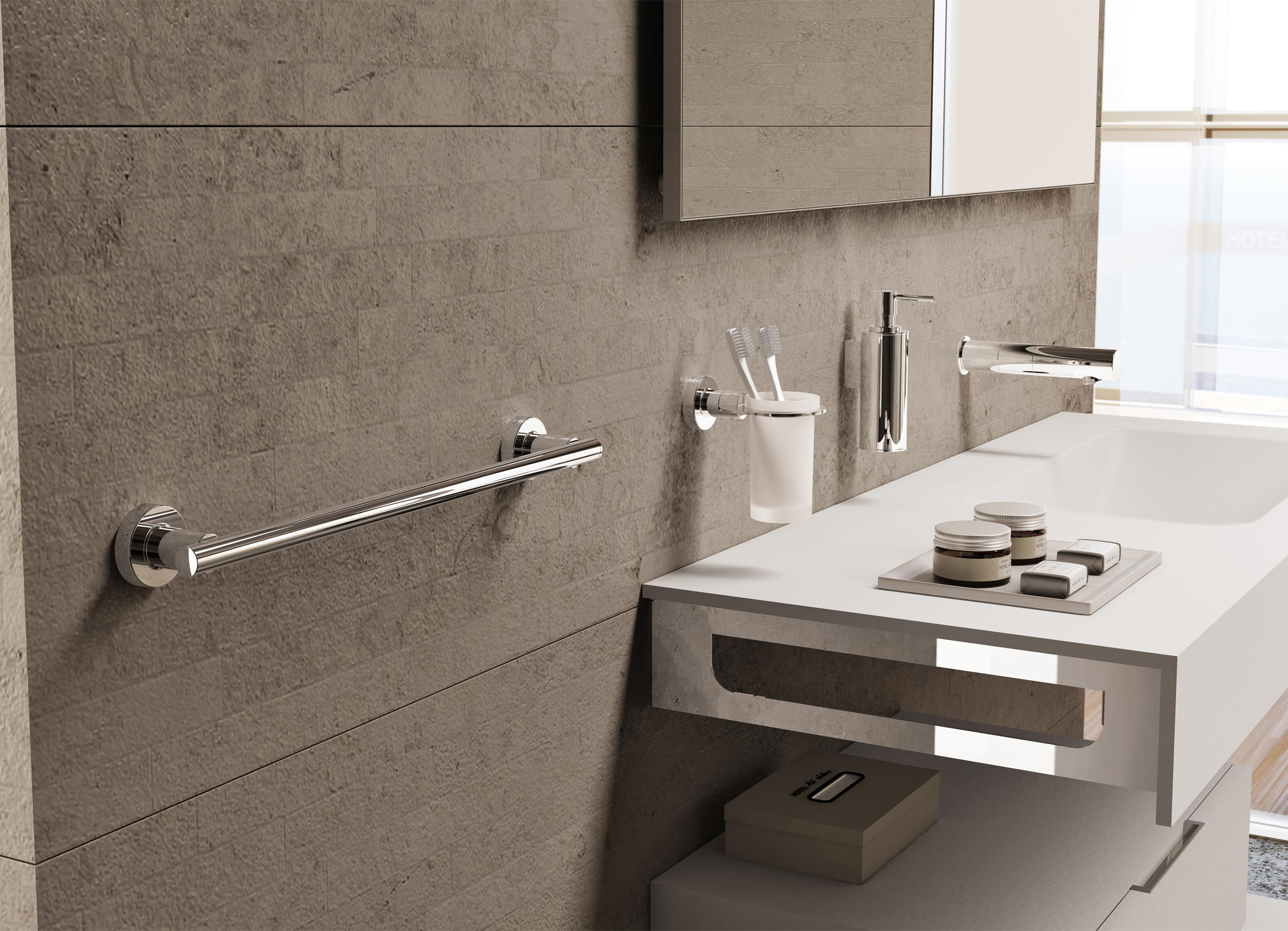 Tecnoproject open towel ring towel rails from sonia for Accesorios lavabo