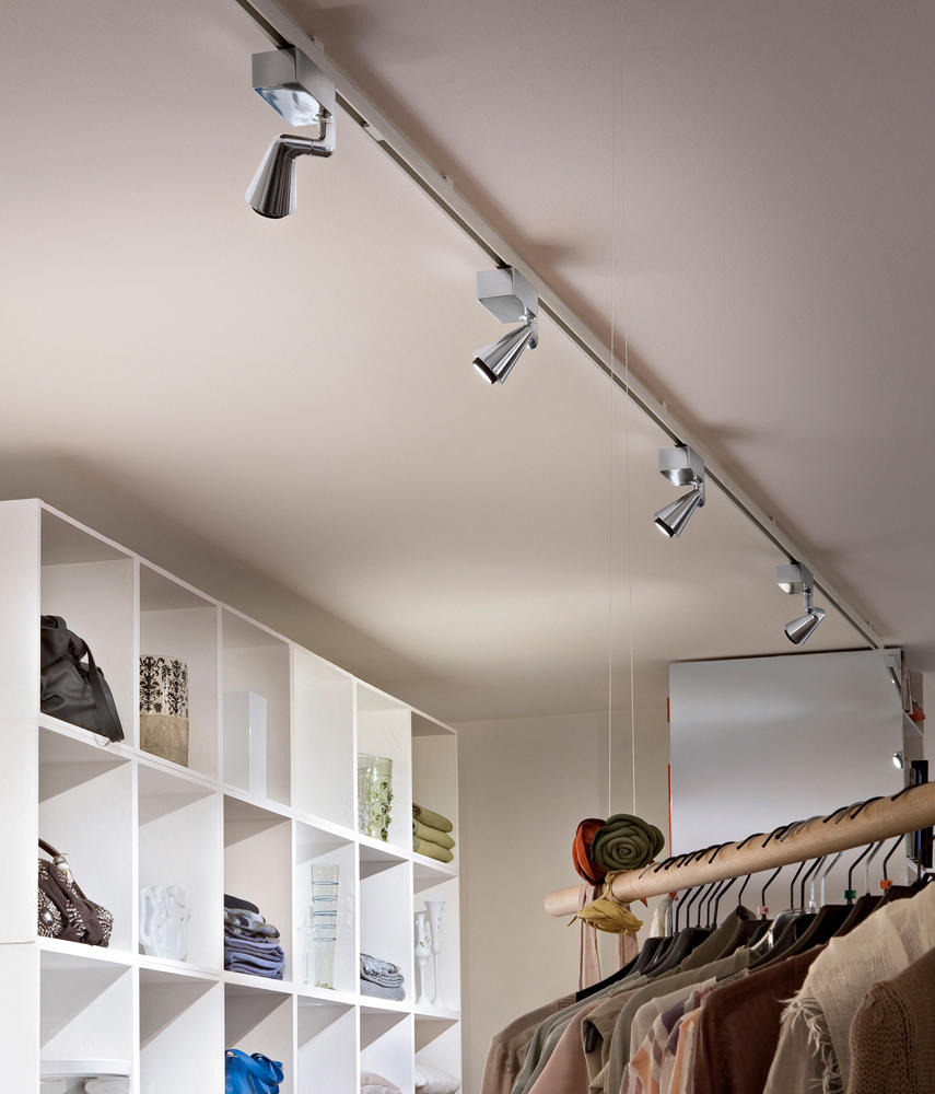 Belvedere ceiling hi par 51 20w faretti a soffitto flos for Faretti flos