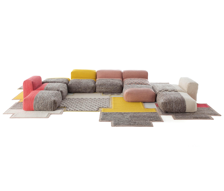 mangas space puf rectangular rhombus crudo 5 pufs de gan. Black Bedroom Furniture Sets. Home Design Ideas