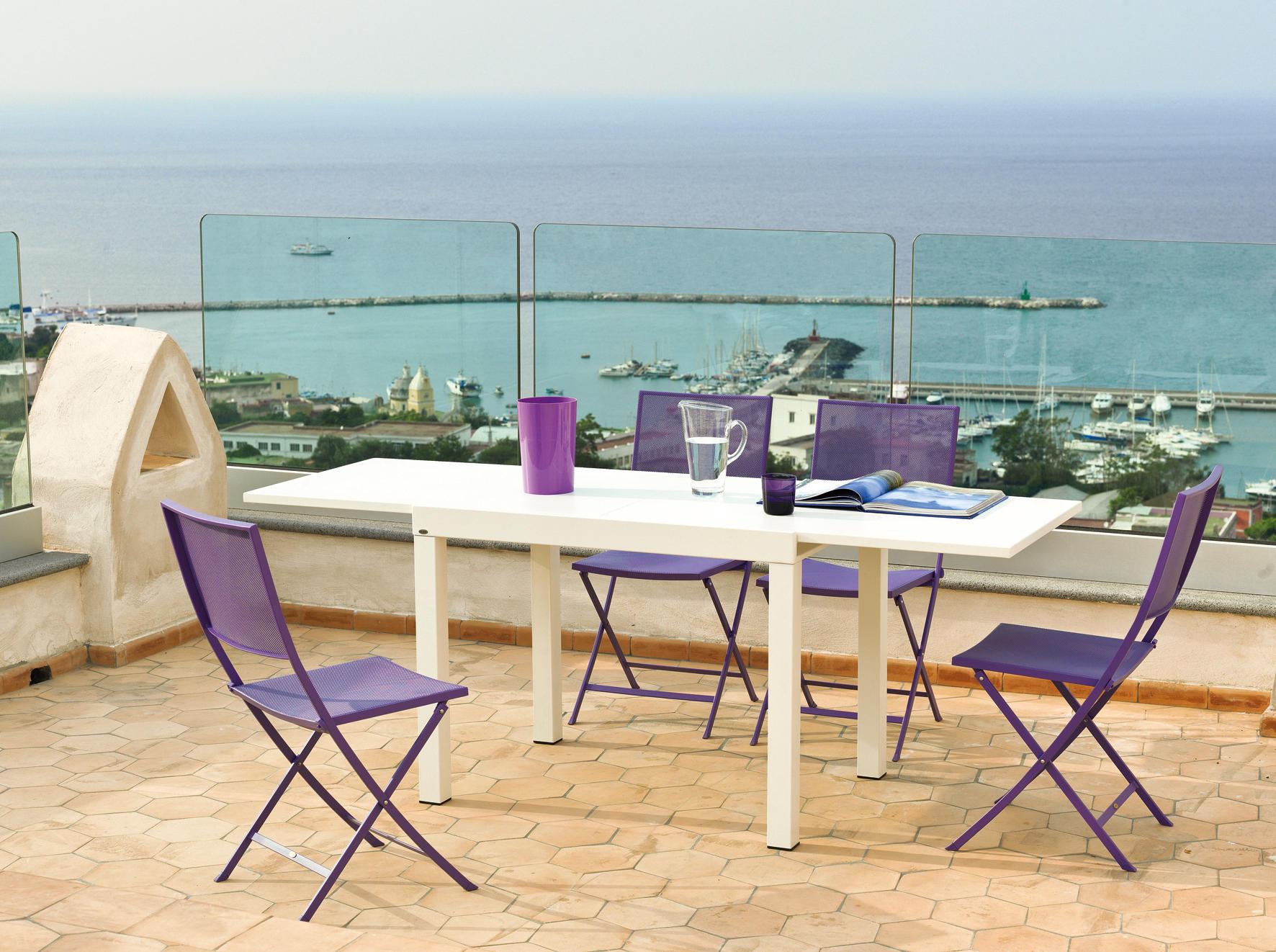 Conrad tavolo bar tavoli alti da giardino unopi for Produttori tavoli