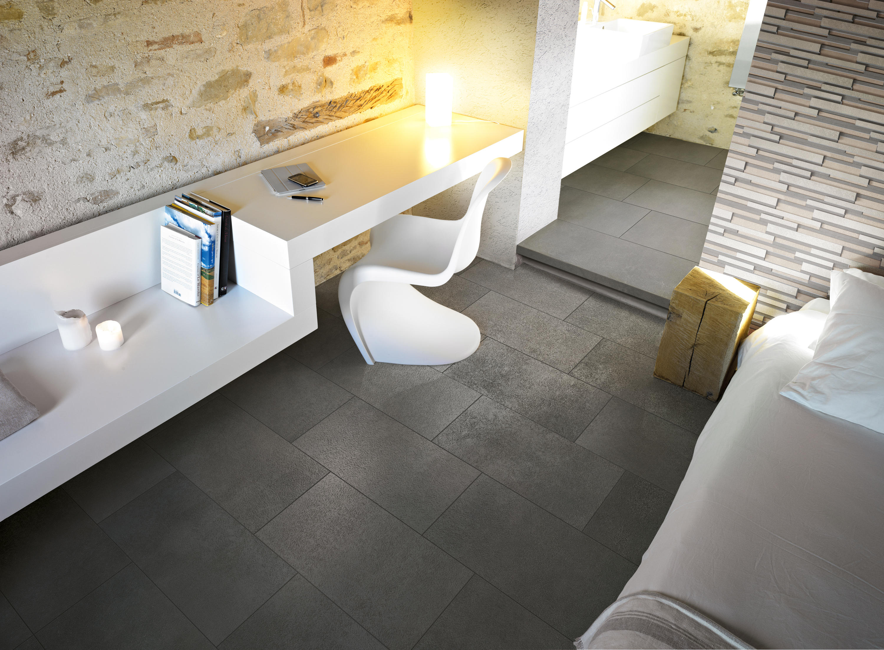 Industrial ivory tiles from floor gres by florim for Carrelage 60x60 taupe