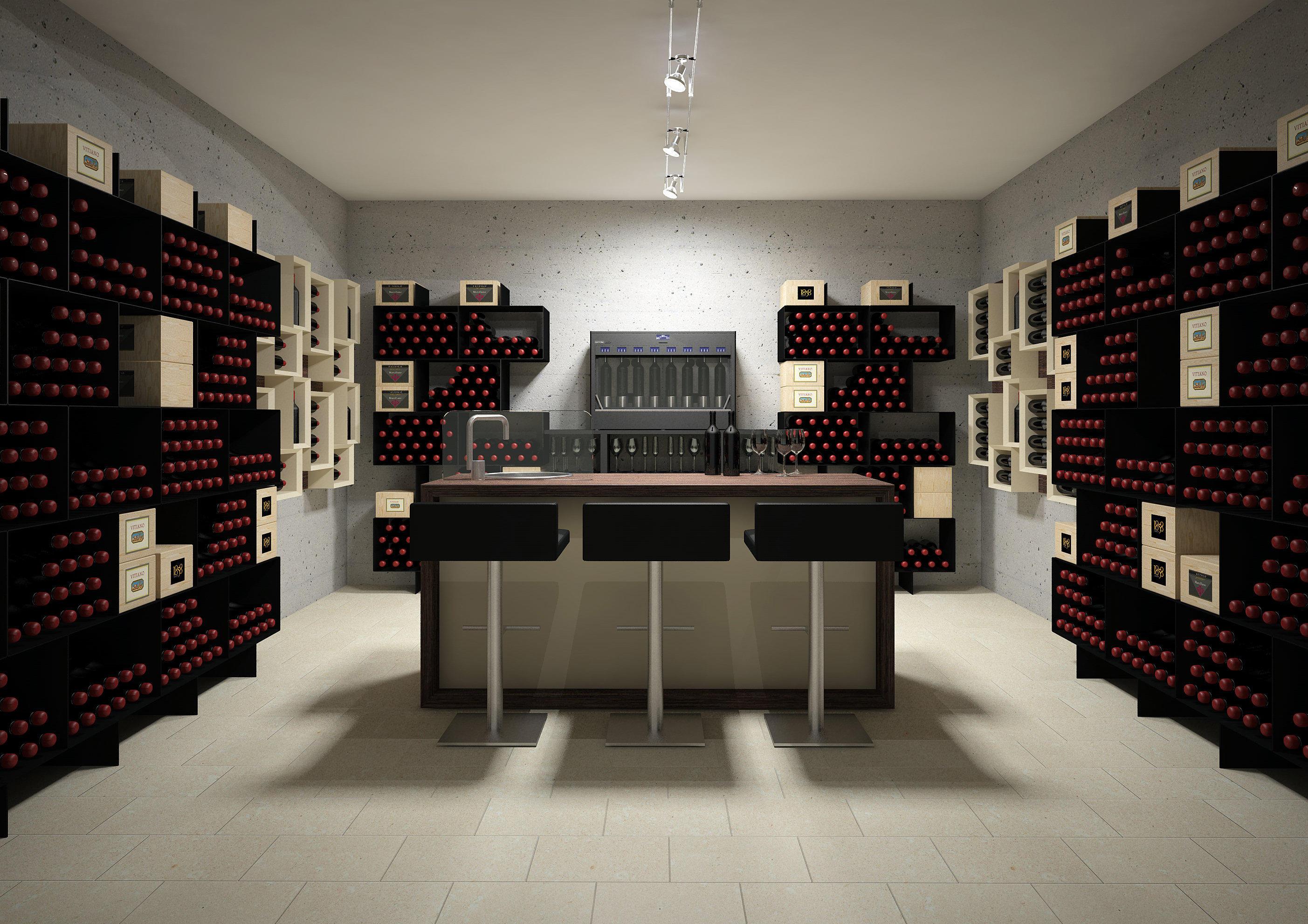 esigo 2 box wine rack wine racks from esigo architonic. Black Bedroom Furniture Sets. Home Design Ideas