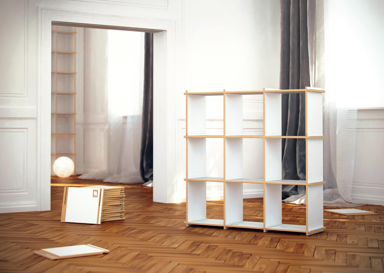 Shelving system moduli libreria steckwerk architonic for Moduli libreria