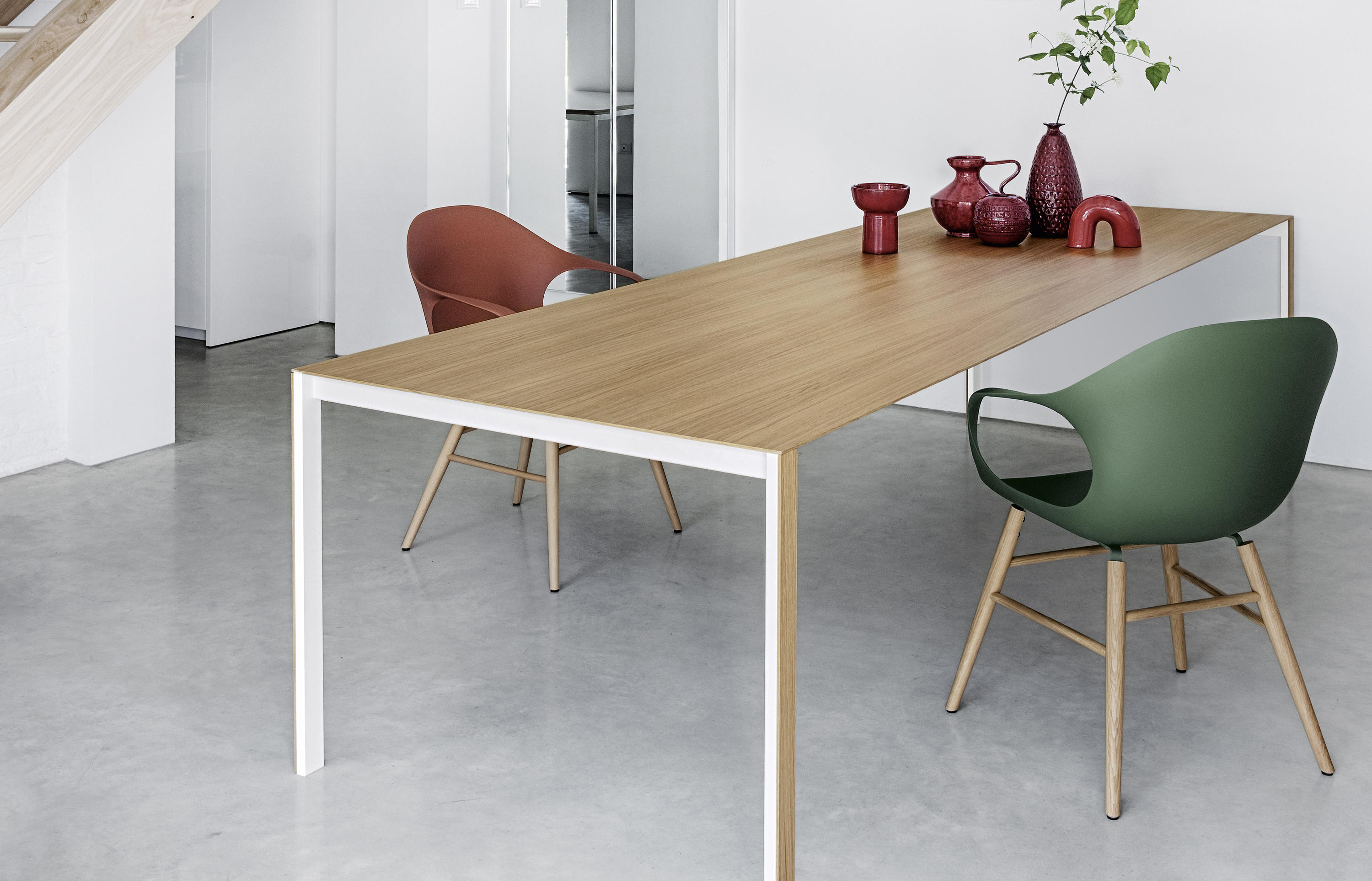 thin k longo wood table restaurant tables from kristalia