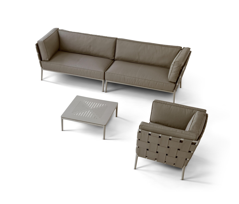 conic 2 sitzer modulsofa links gartensofas von cane. Black Bedroom Furniture Sets. Home Design Ideas