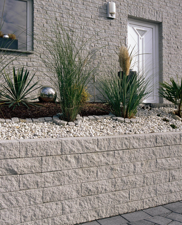 Muretto palisaden granitgrau garden edging from metten - Muretti per giardino ...