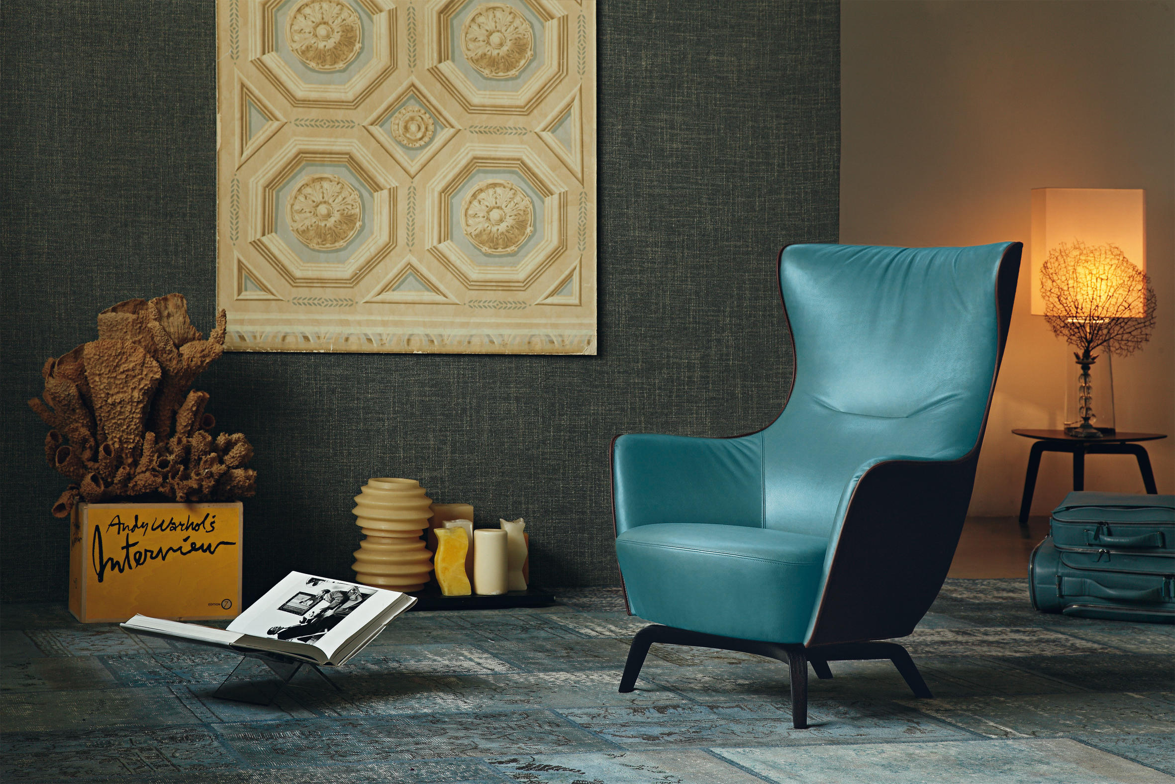 MAMY BLUE ARMCHAIR - Lounge chairs from Poltrona Frau | Architonic