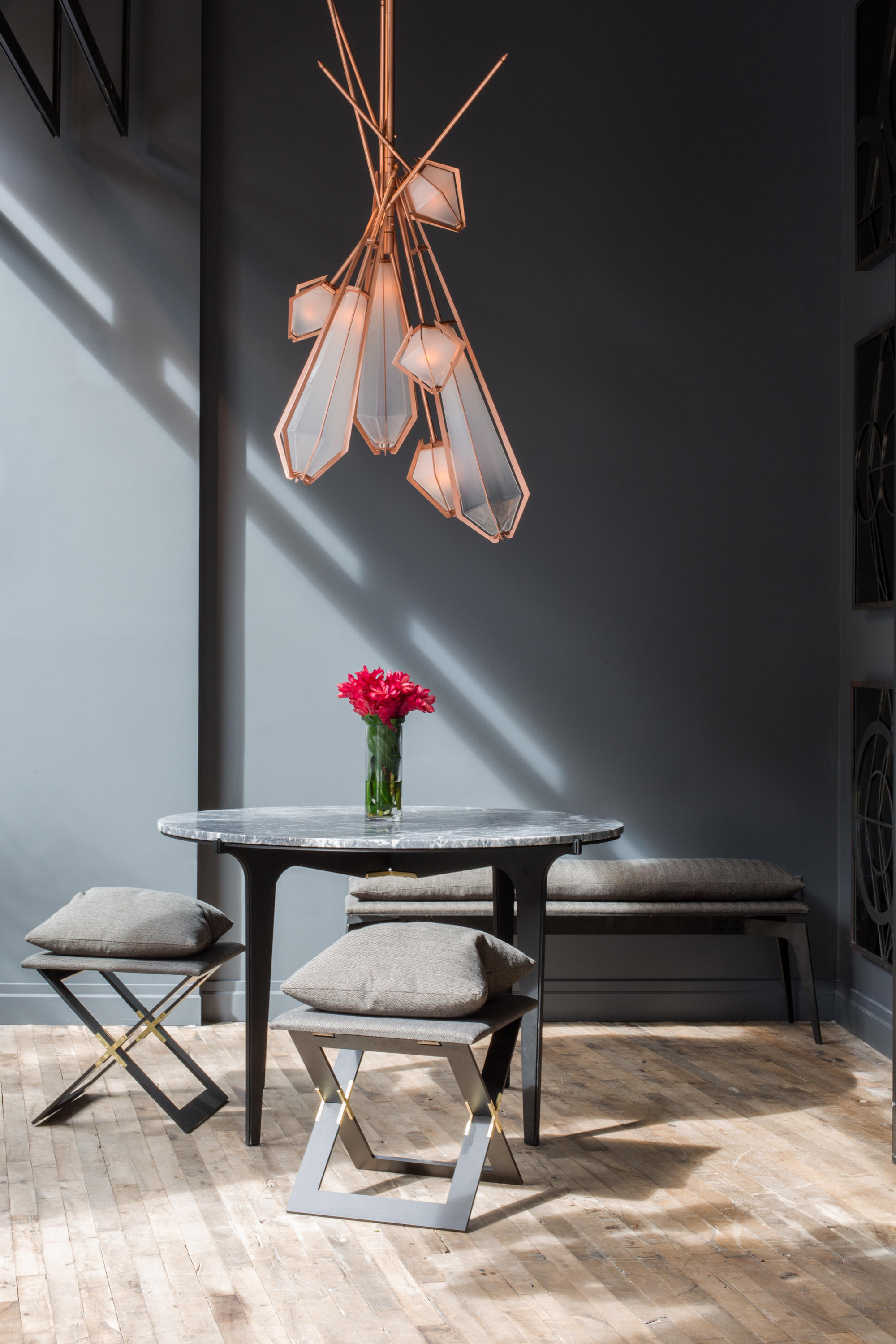 Harlow Spoke Chandelier Suspended Lights From Gabriel