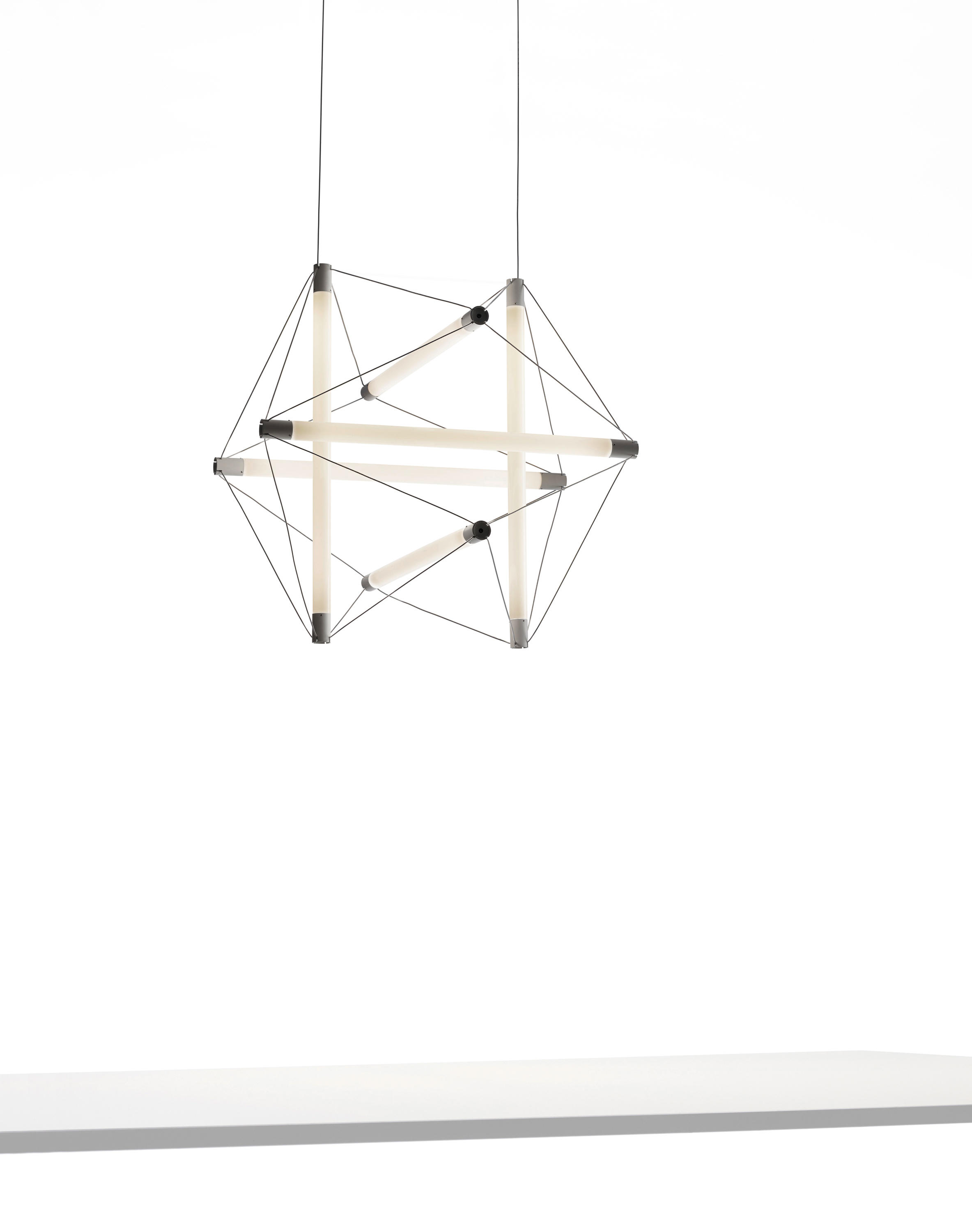 Light Structure Suspended Lights From Ingo Maurer Architonic Lamp With Three Wiring By