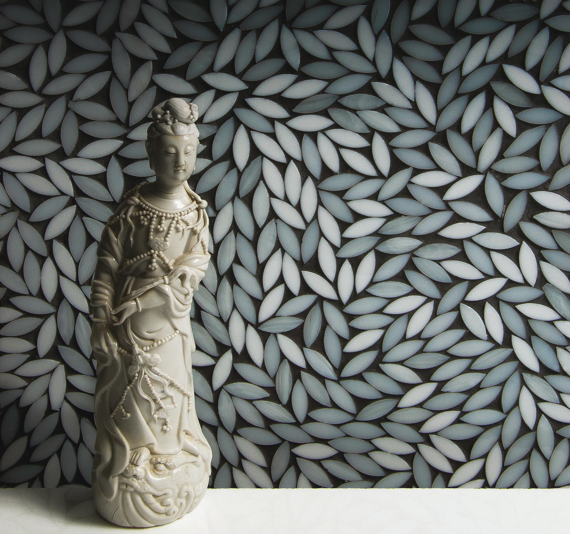 Foliage be bop white glass mosaic wall mosaics from artistic tile foliage be bop white glass mosaic by artistic tile dailygadgetfo Images