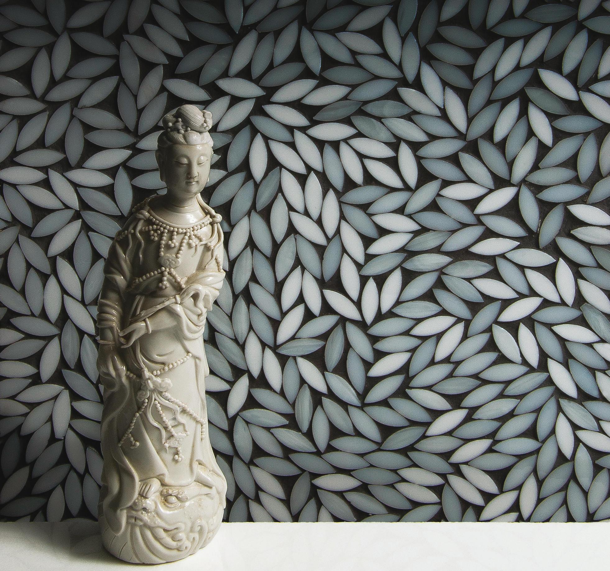 Foliage be bop white glass mosaic wall mosaics from artistic foliage be bop white glass mosaic by artistic tile dailygadgetfo Images