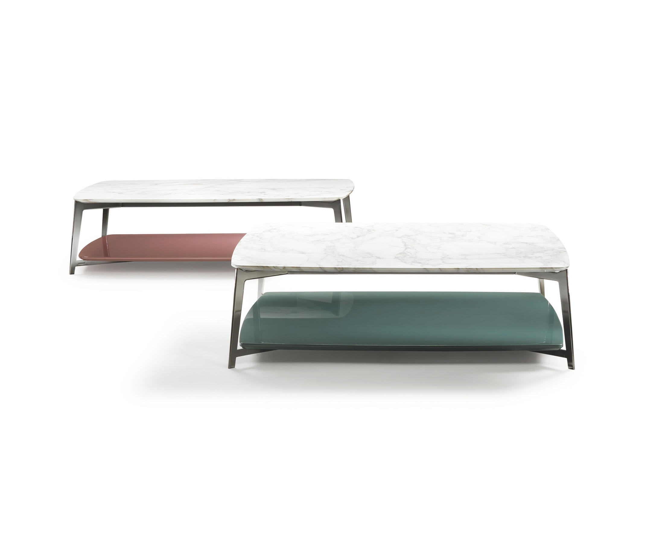DOUBLE SMAL TABLE Lounge tables from Flexform