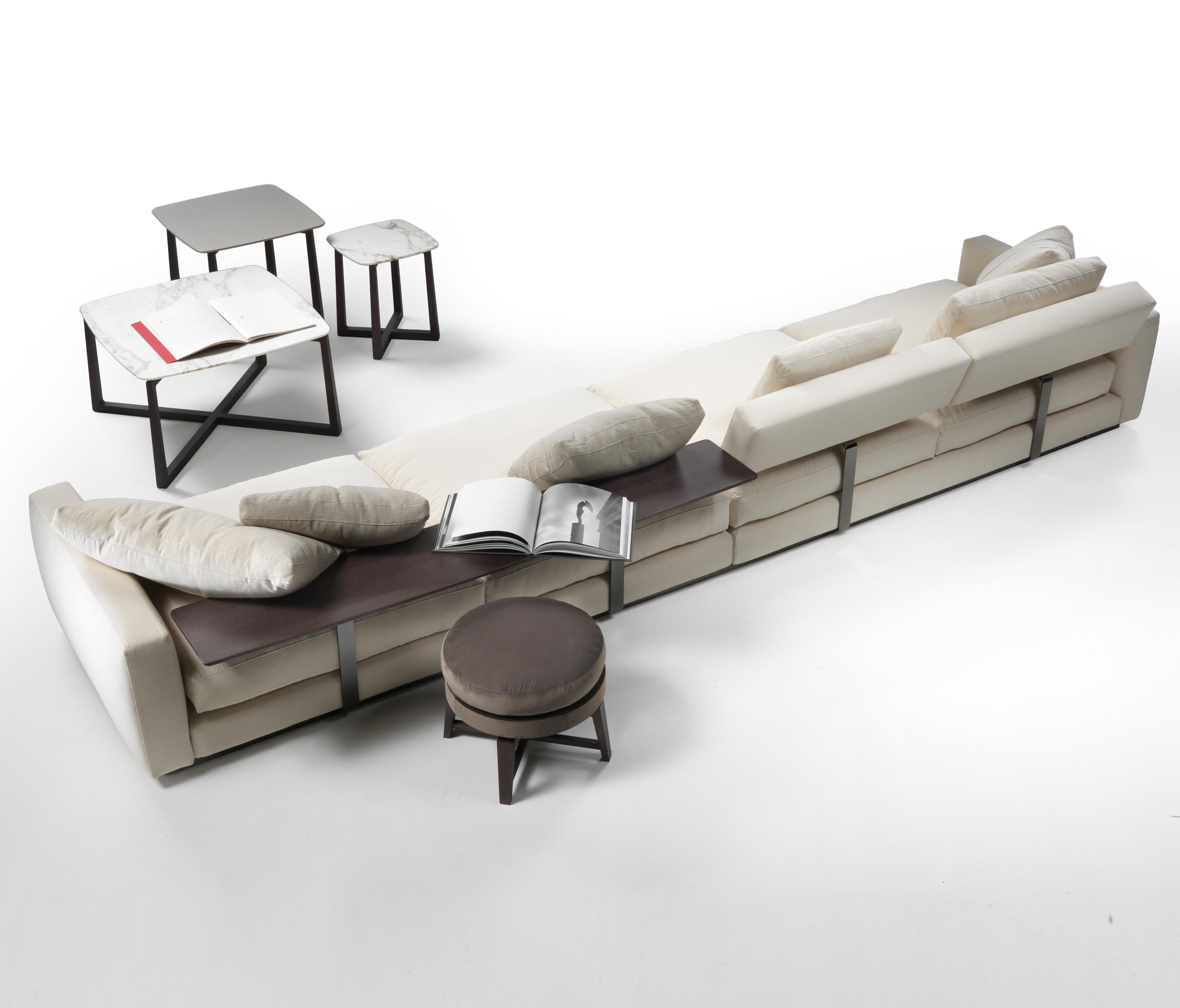PLEASURE SECTIONAL SOFA Modular seating systems from Flexform