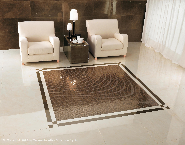 Marvel floor gray stone floor tiles from atlas concorde for Changer carrelage