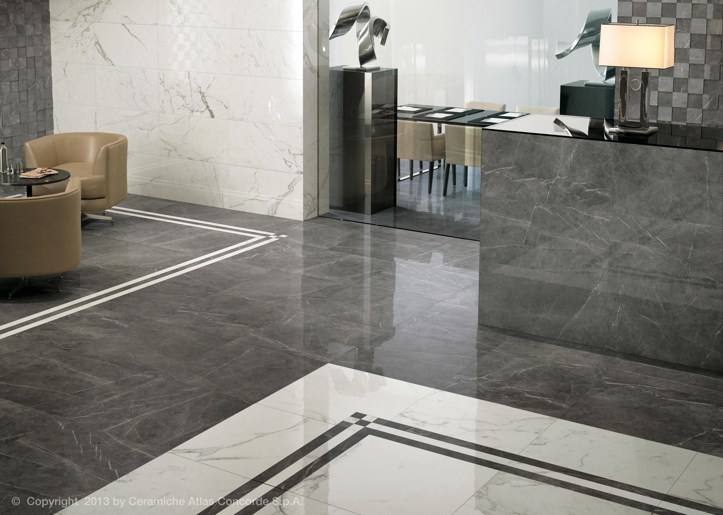 Marvel Floor Gray Stone Ceramic Tiles From Atlas