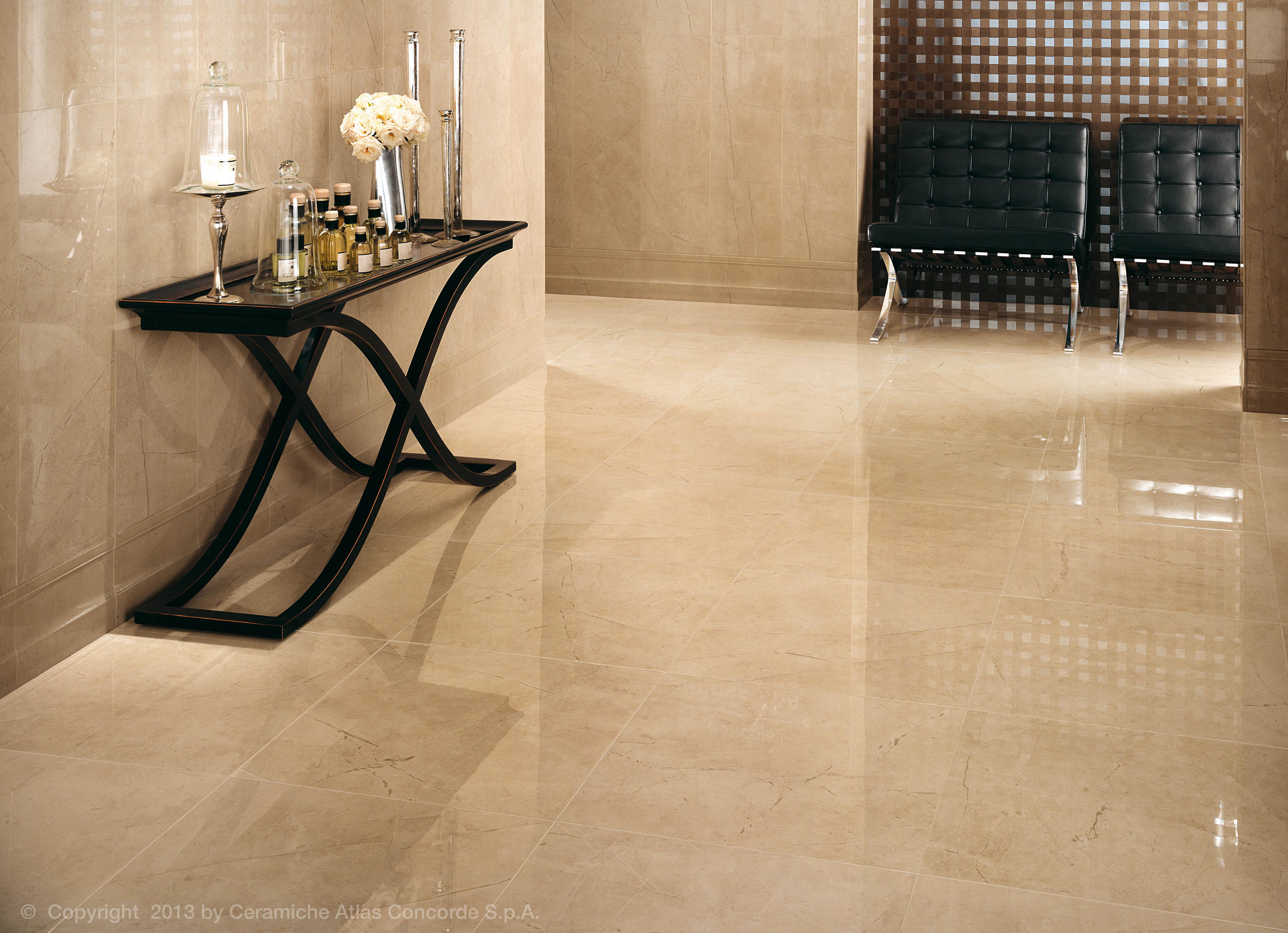Marvel wall calacatta extra ceramic tiles from atlas for Carrelage beige