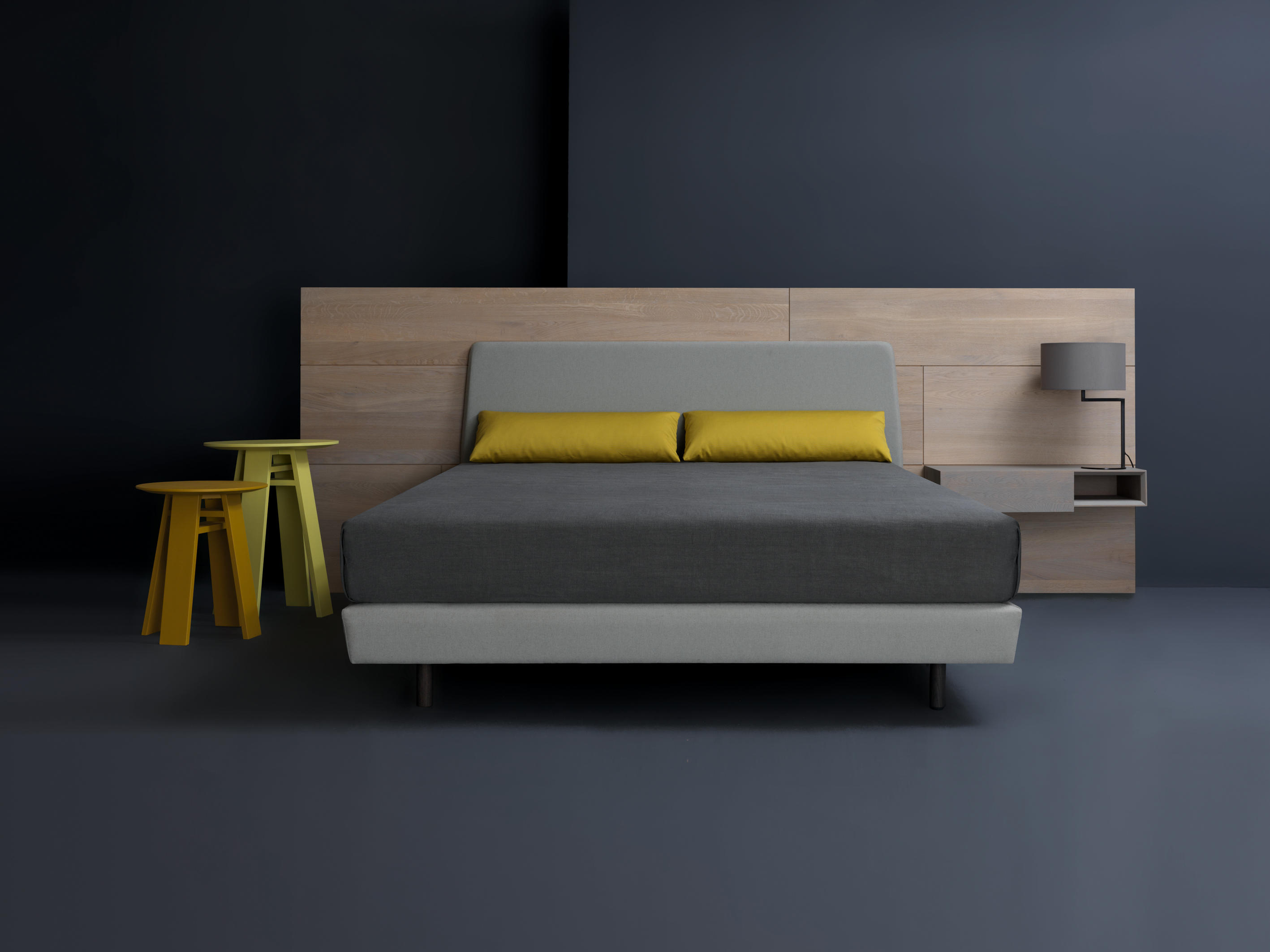 Marvelous photograph of Miut Panel high Double beds by Zeitraum Architonic with #9E882D color and 2835x2126 pixels