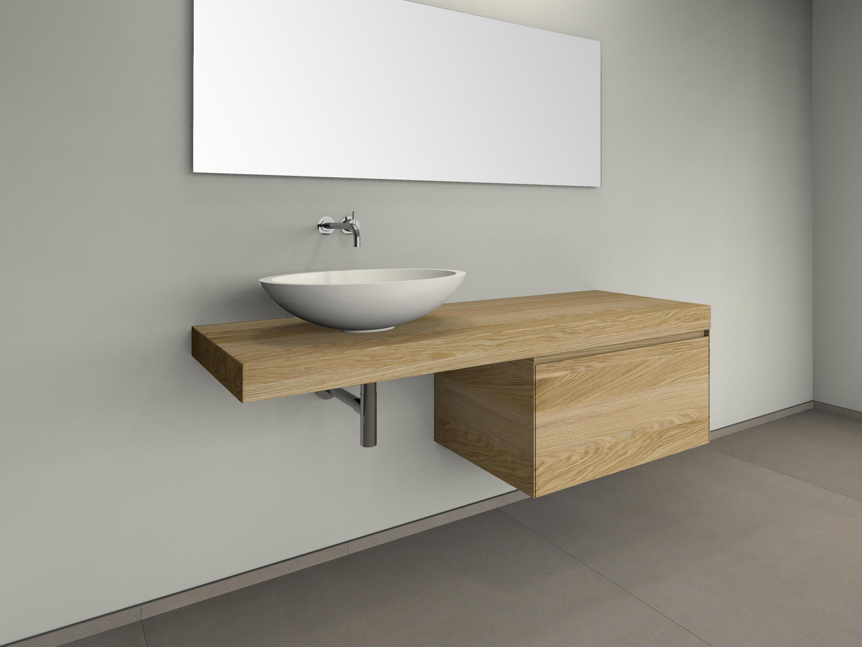Waschtischkonsole Design Nr 1000 Eiche Weiß Geölt Holz