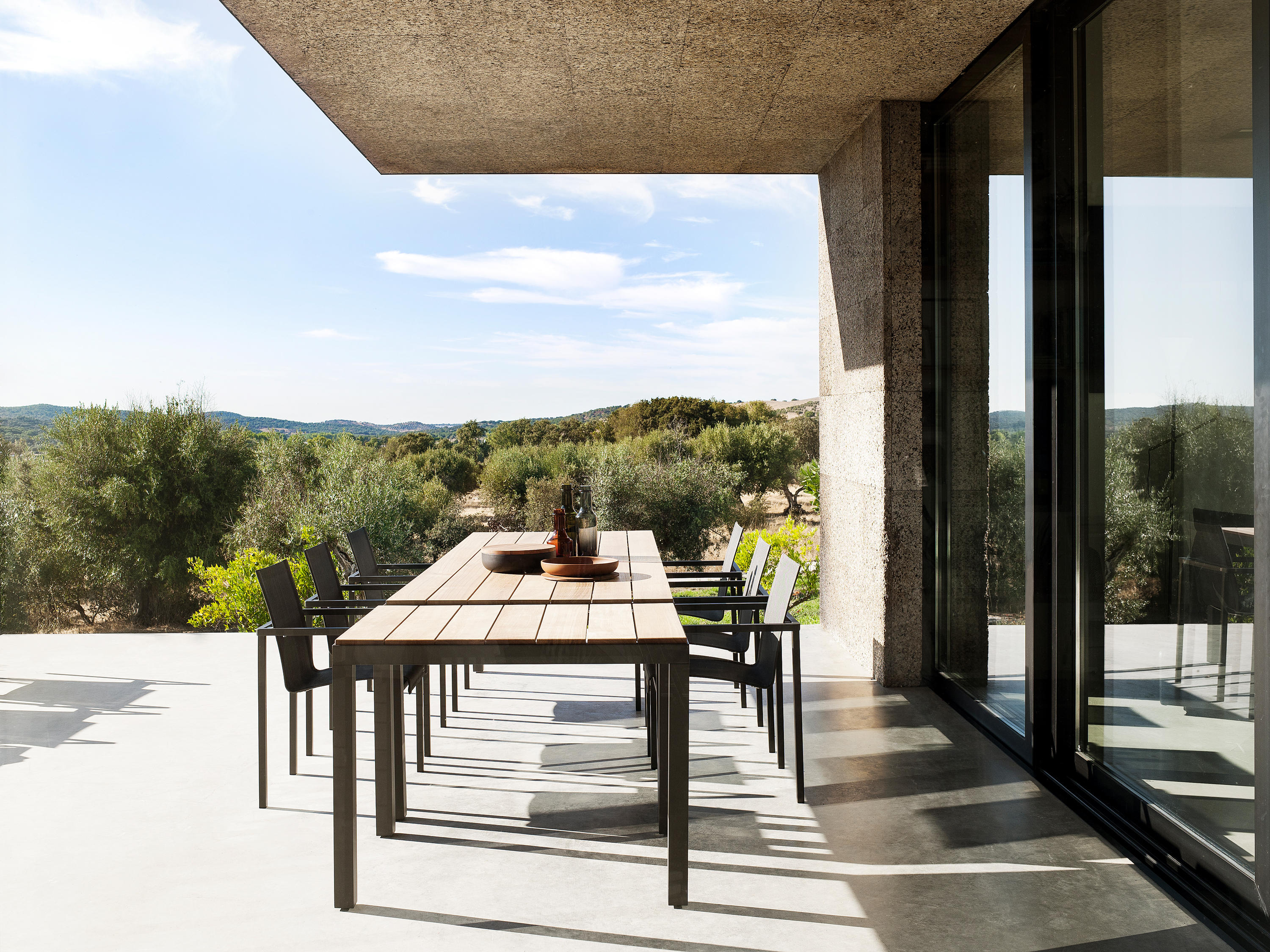 natal alu teak armchair - garden chairs from tribù | architonic, Terrassen ideen