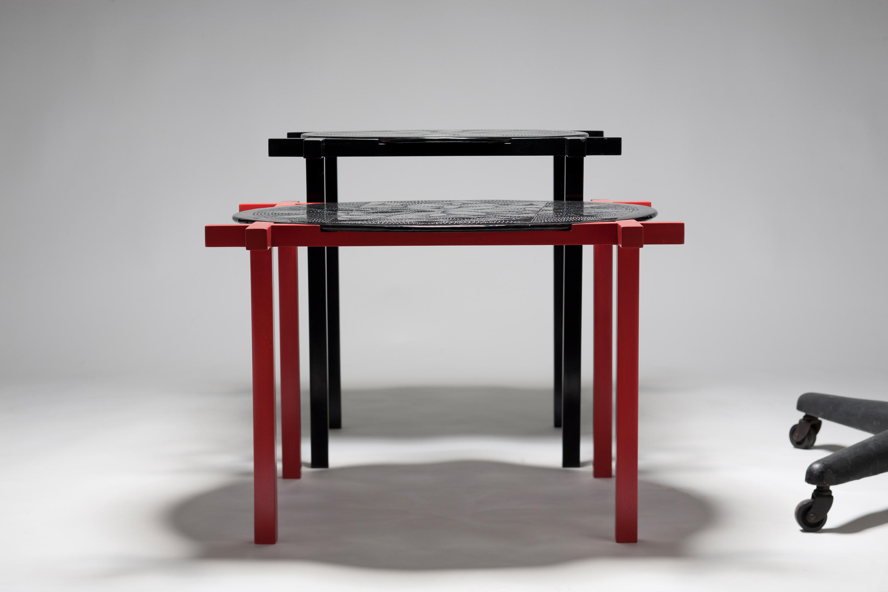 Trend  Round and Square side and centre table by Karen Chekerdjian