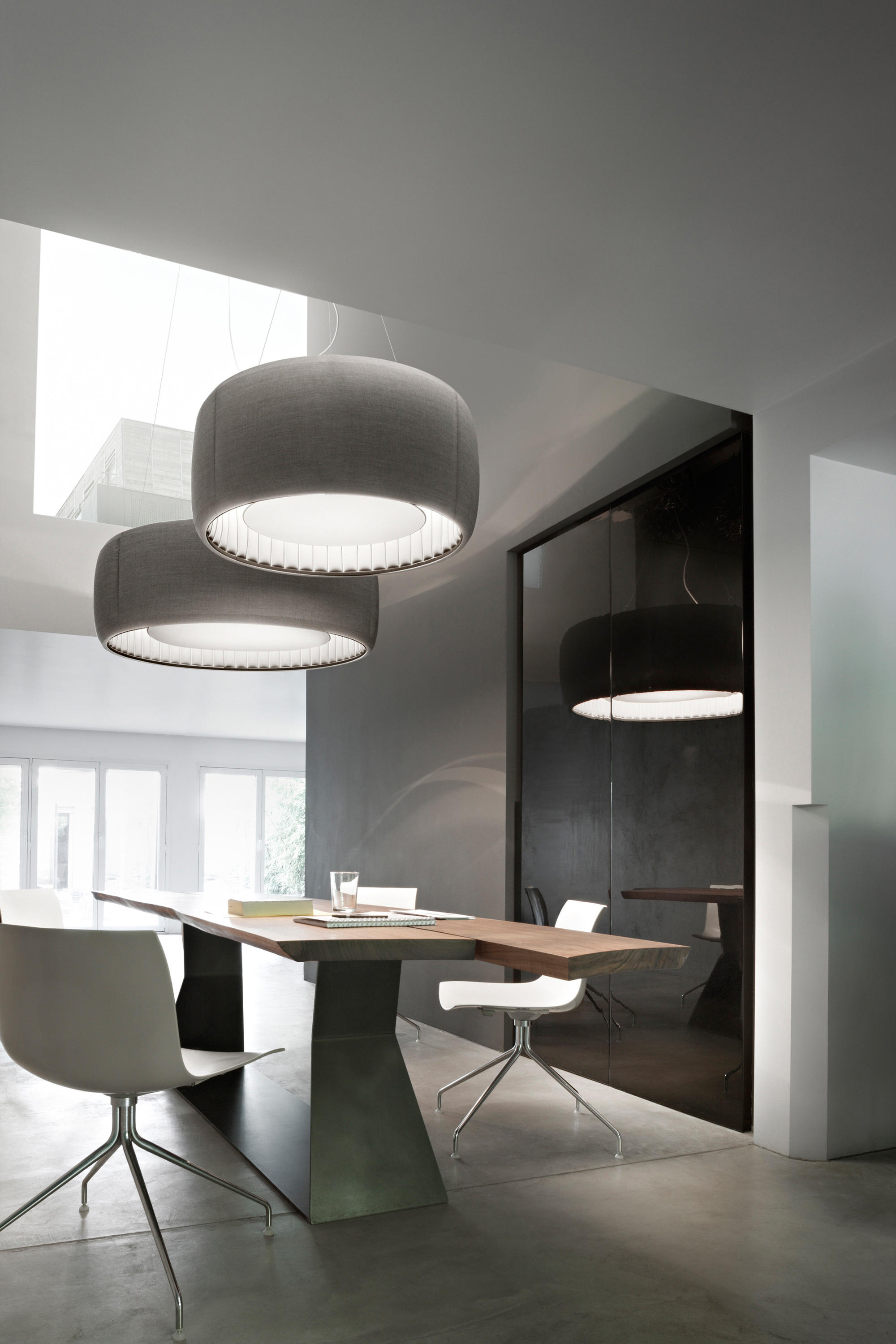 Silenzio Ceiling Suspended Lights From Luceplan Architonic