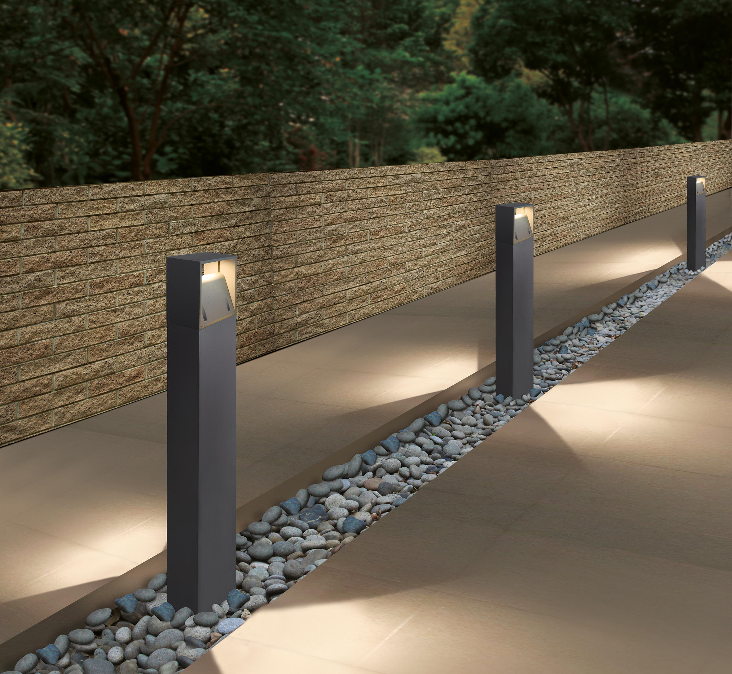 Lim led bollard luminaire bollard lights from unex for Luminaire outdoor