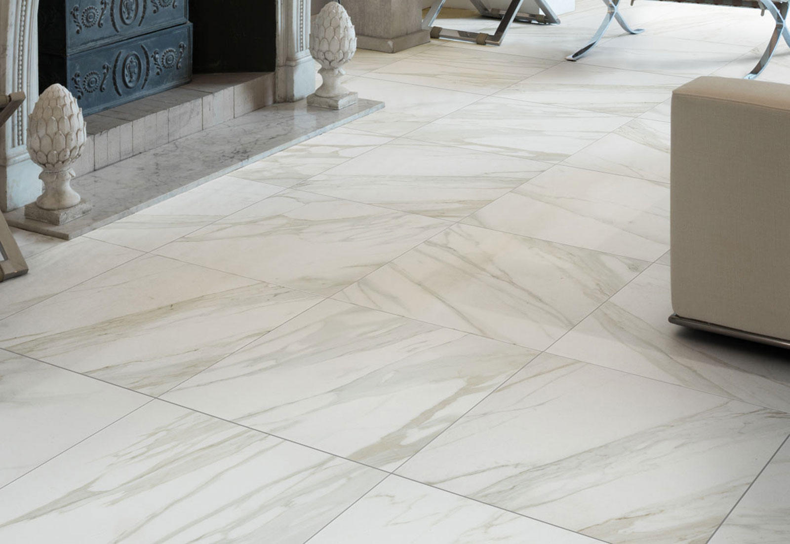 Evolutionmarble lux grey ceramic tiles from marazzi for Carrelage marazzi