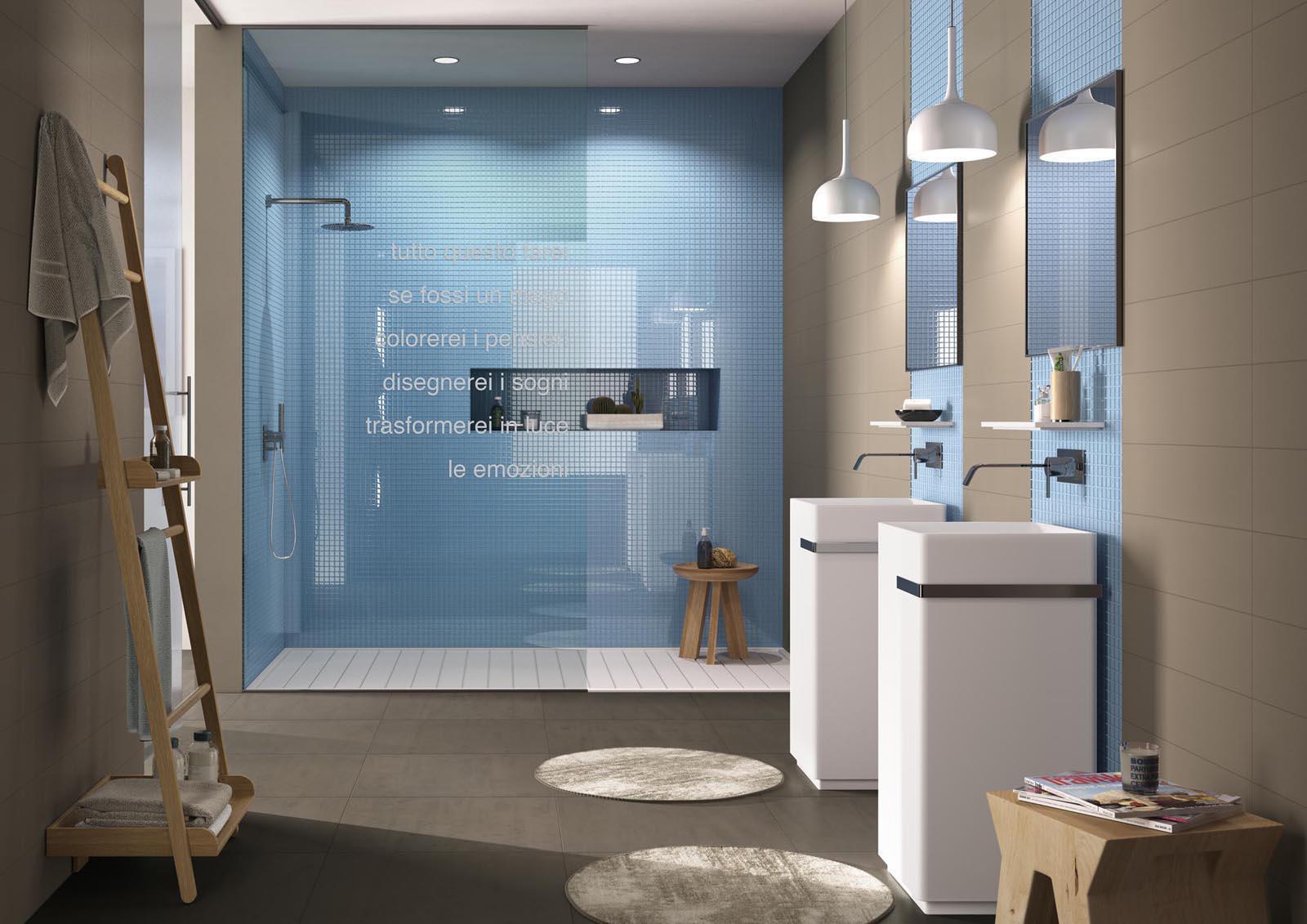 Bagni Blu Mosaico : Realizzare un bagno blu di giacomo pavimenti sas