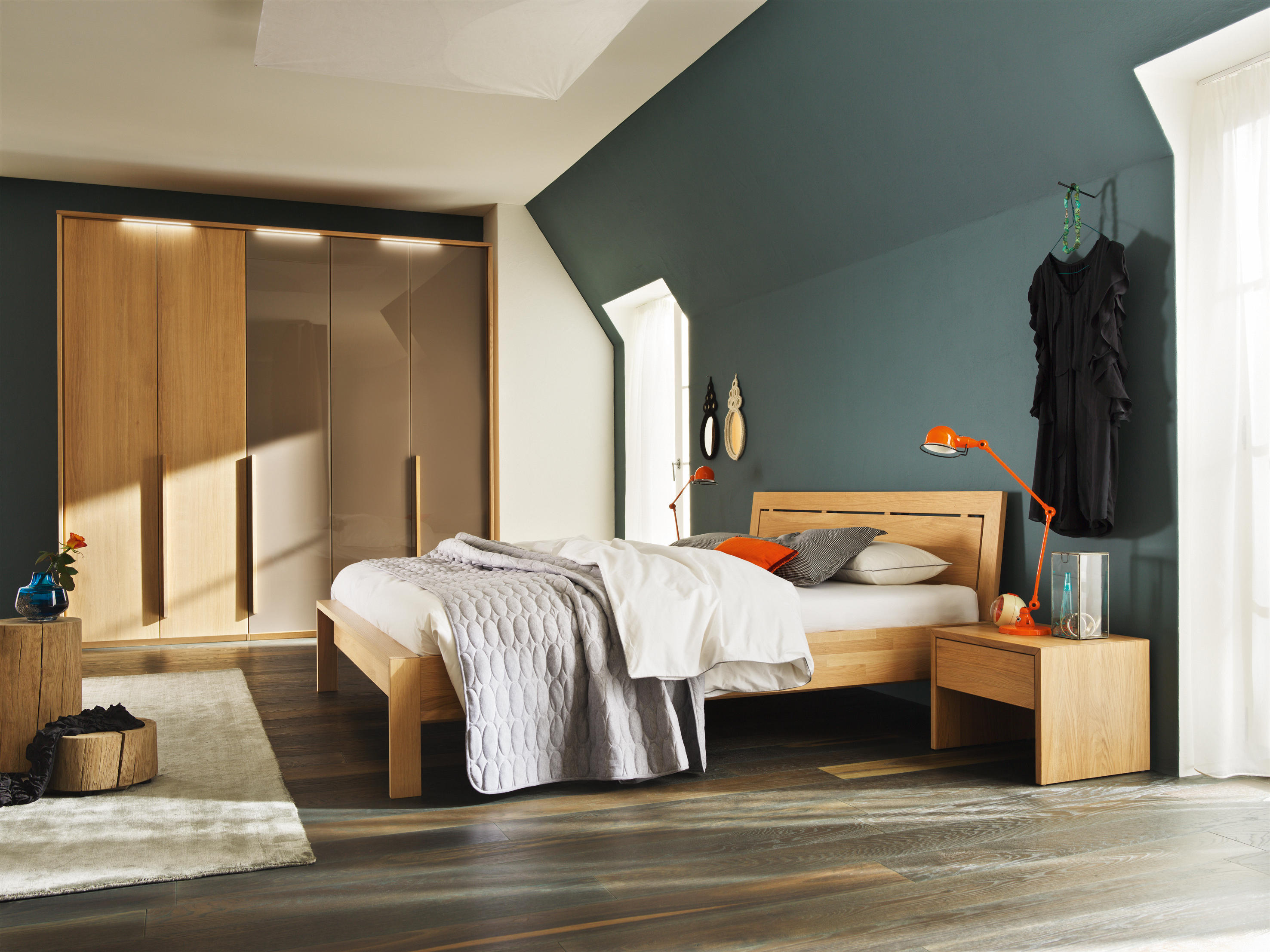 Light Wood Bedroom ~ Soft wardrobe system cabinets from team architonic