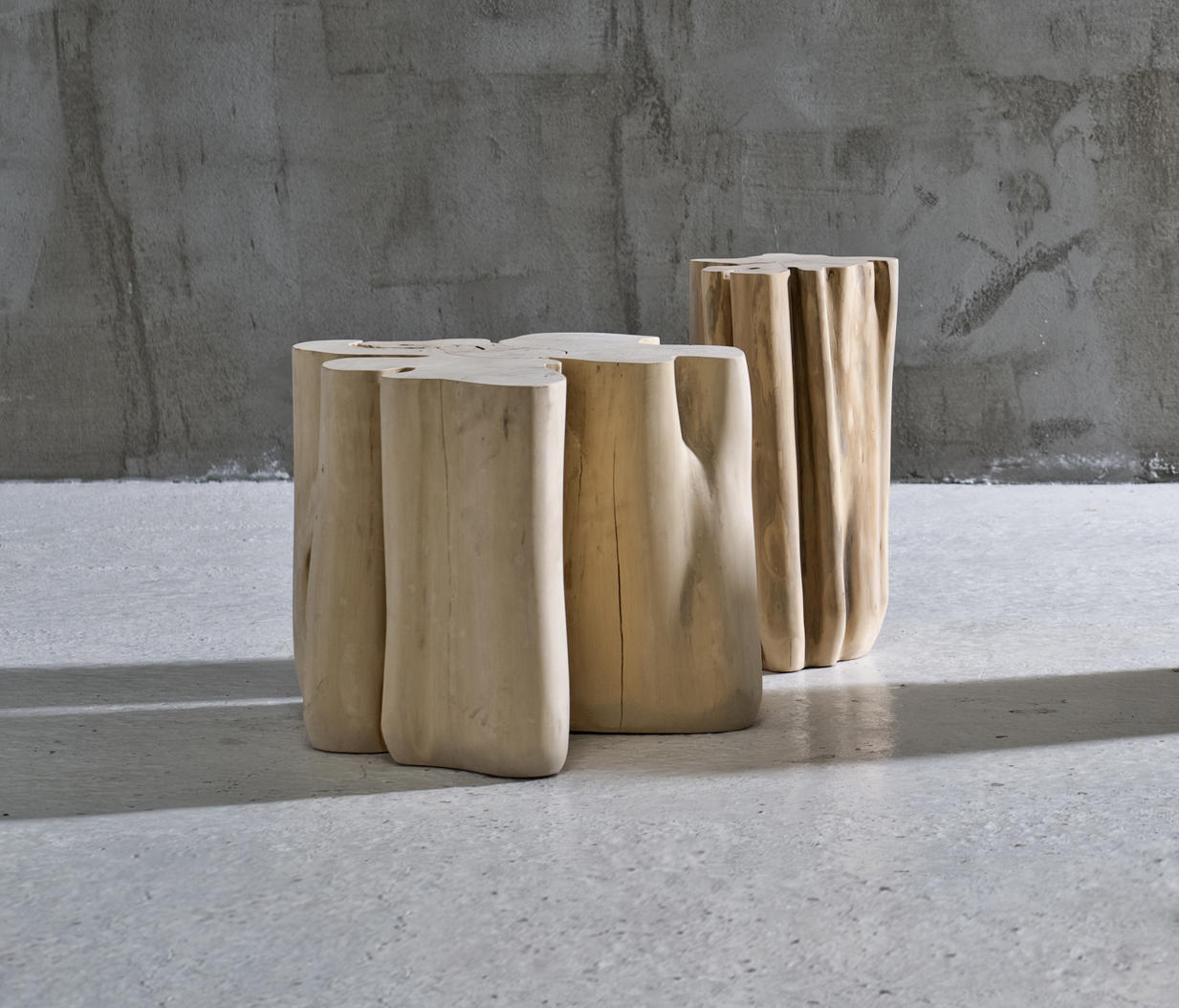 Brick 06 modular seating elements from gervasoni for Tronc bois deco