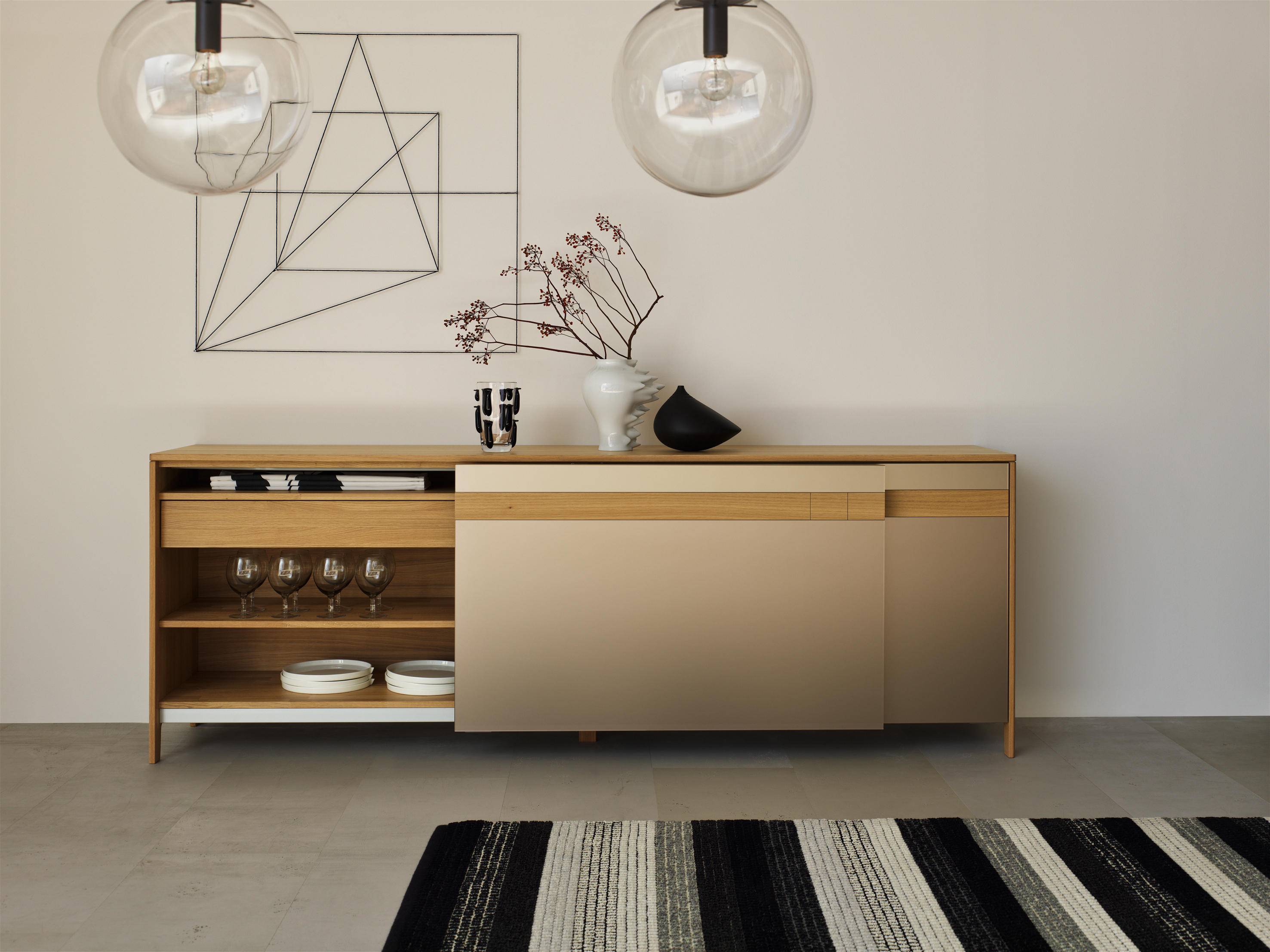Cubus pure sideboard sideboards from team 7 architonic for Sideboard offen