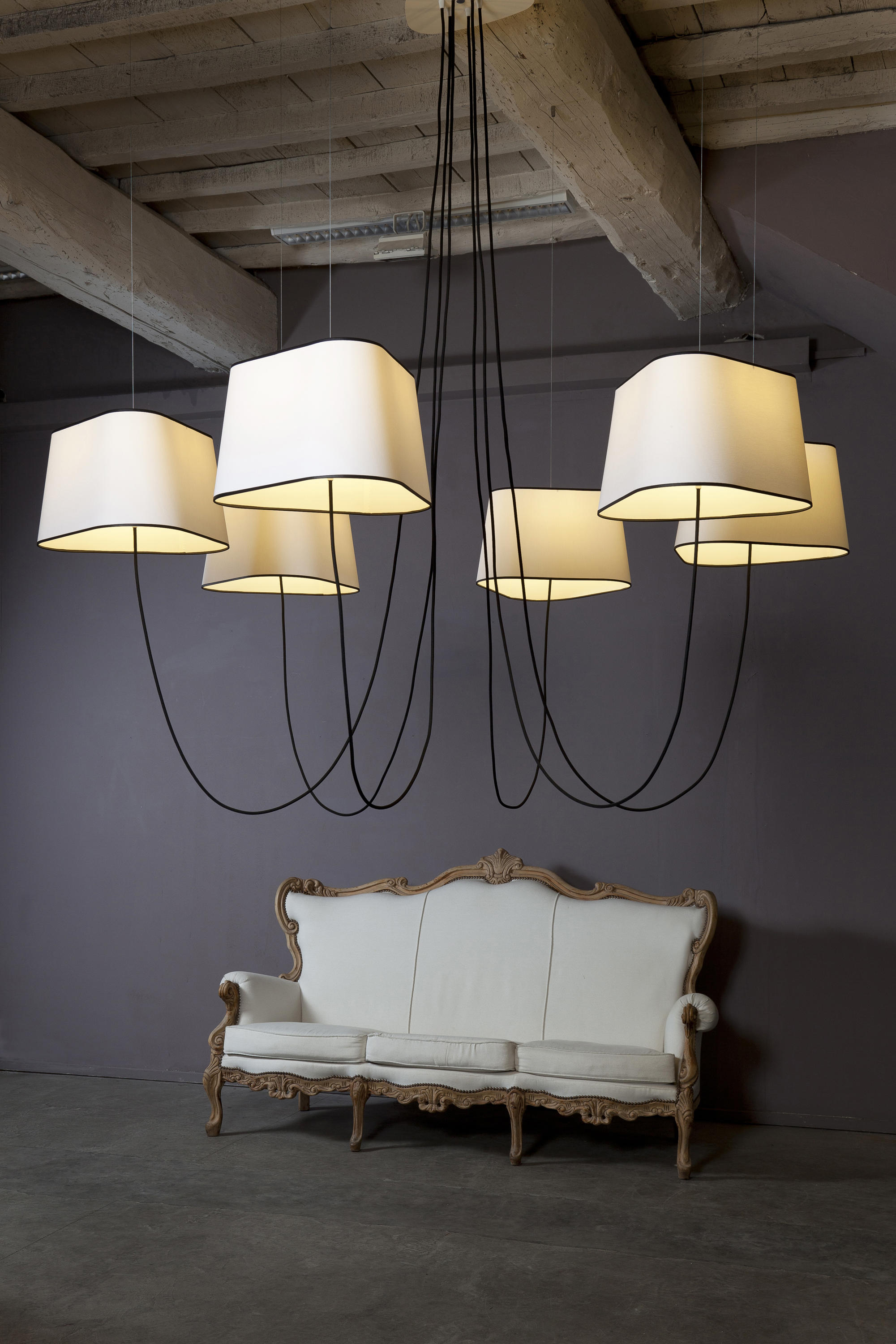 Nuage chandelier 15 large lighting objects from - Lustre noir baroque pas cher ...