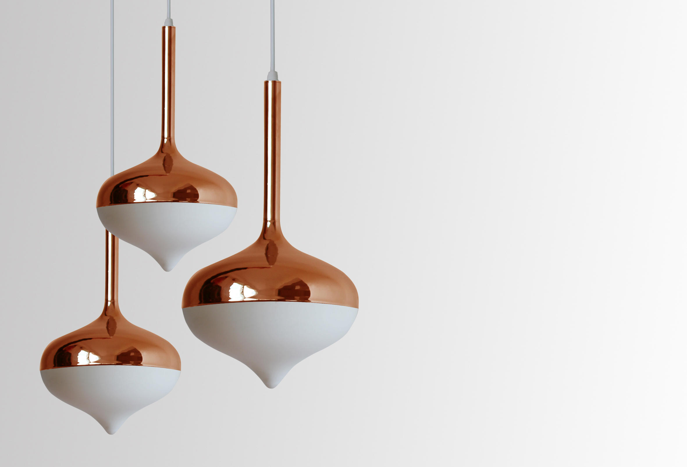 Spun Small Pendant Lamp Silver Suspended Lights From