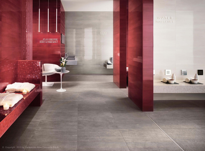 Mark ivory damask ceramic tiles from atlas concorde for Carrelage 60x60