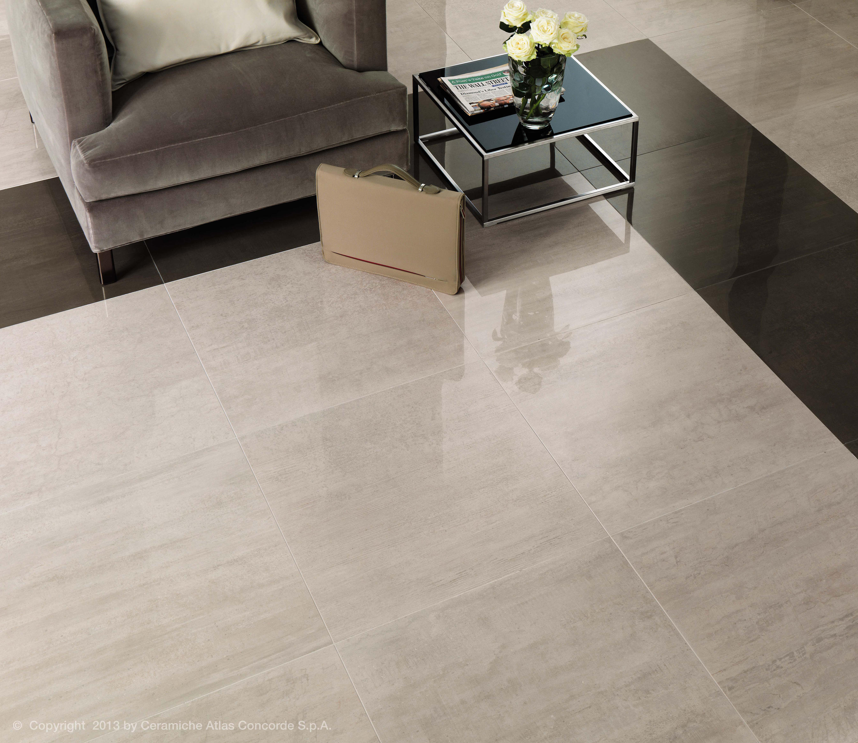Mark chrome tiles from atlas concorde architonic for Carrelage 60x60 taupe