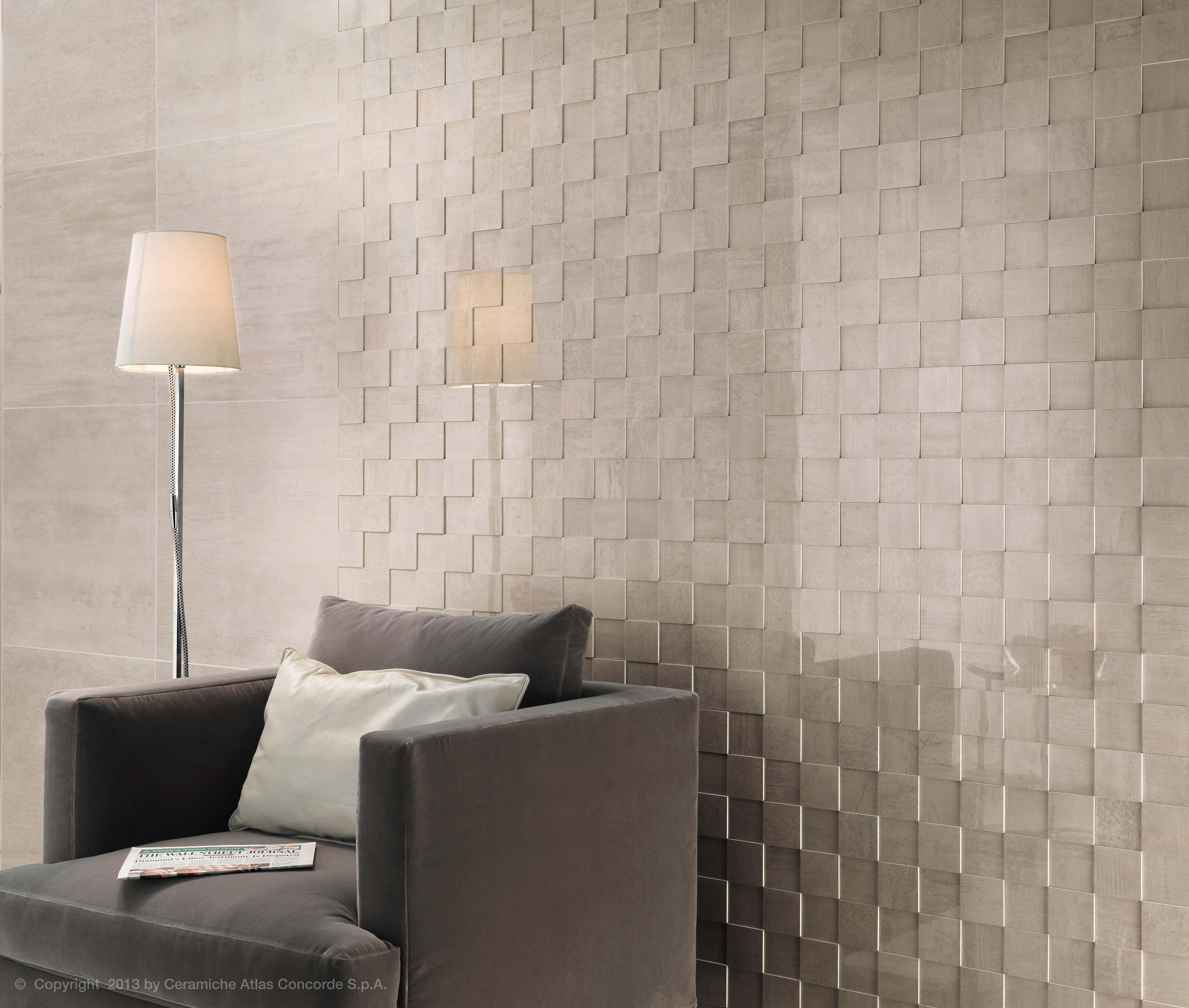 Mark chrome tiles from atlas concorde architonic for Carrelage faience murale