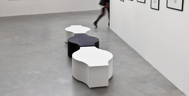 Compound concrete garden benches from jangir maddadi for Bureau dessin