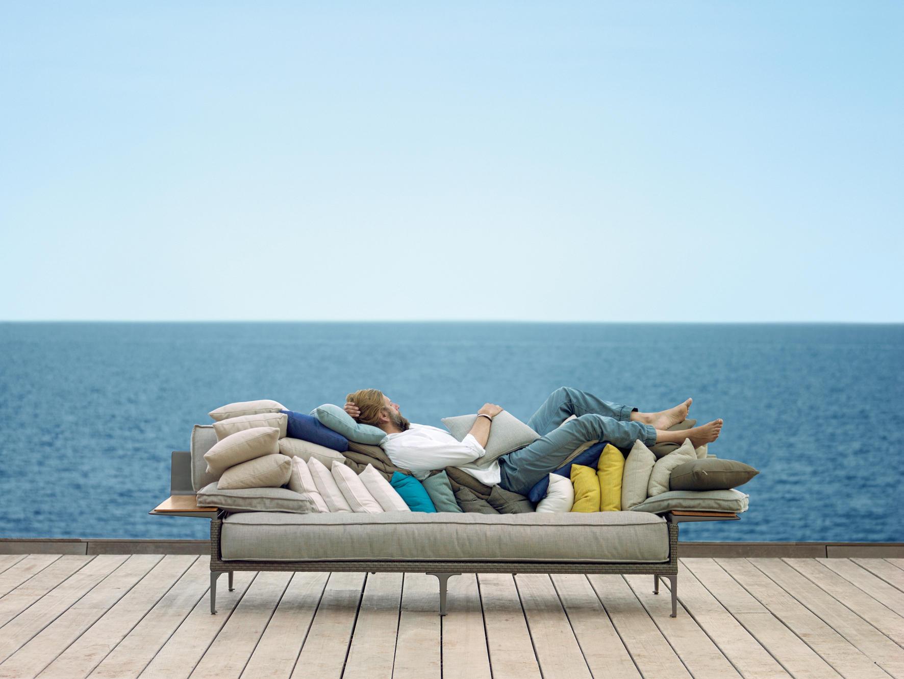 RAYN LOUNGE CHAIR Garden armchairs from DEDON