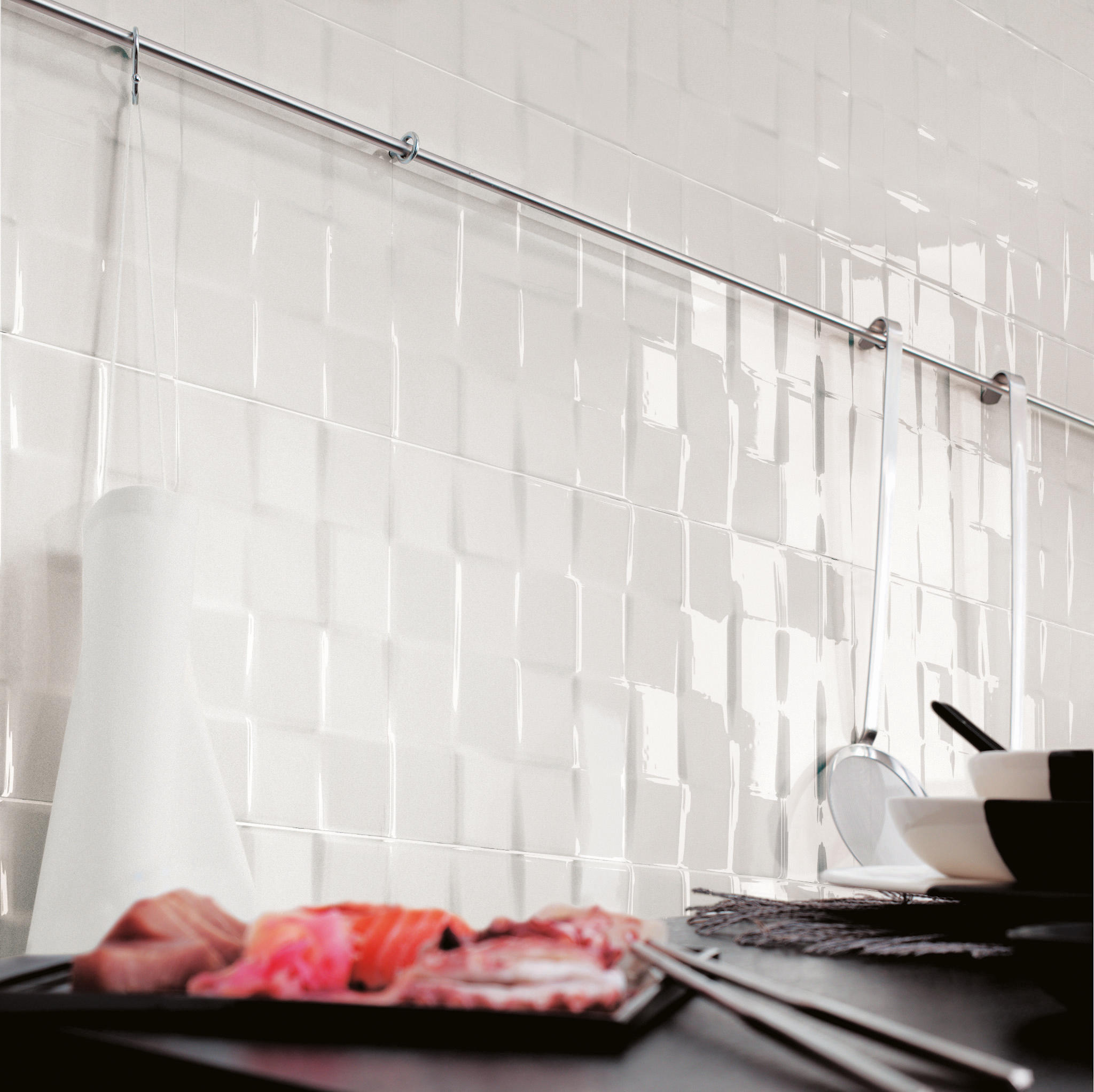 lumina frame white matt 20x20 wall tiles by fap. Black Bedroom Furniture Sets. Home Design Ideas
